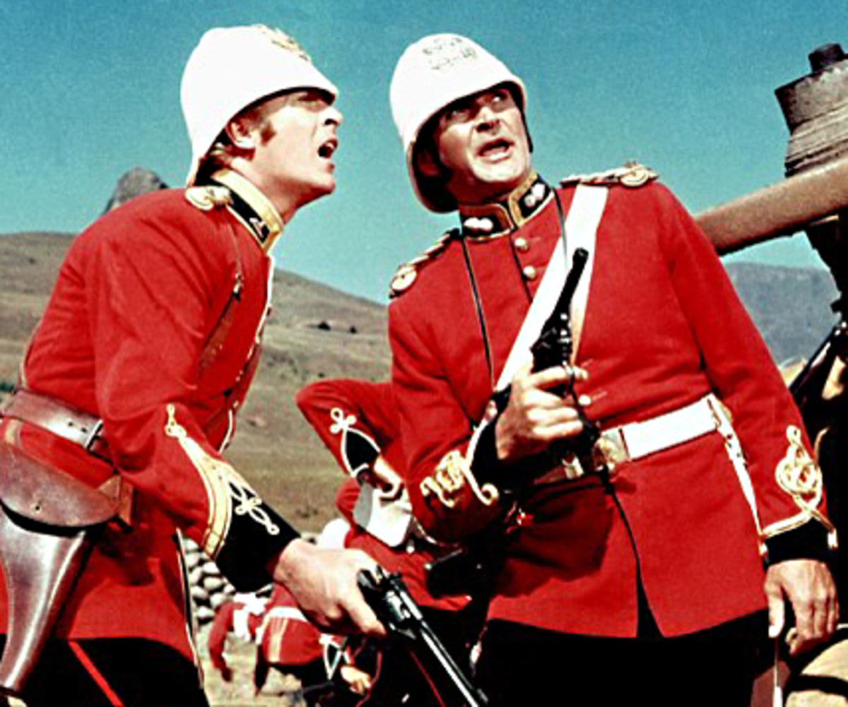 Lieutenants Bromhead and Chard (played by Michael caine and Stanley Baker). Both officers would receive the Victoria Cross for their actions at Rorke's Drift - 2 out of 11 VCs awarded