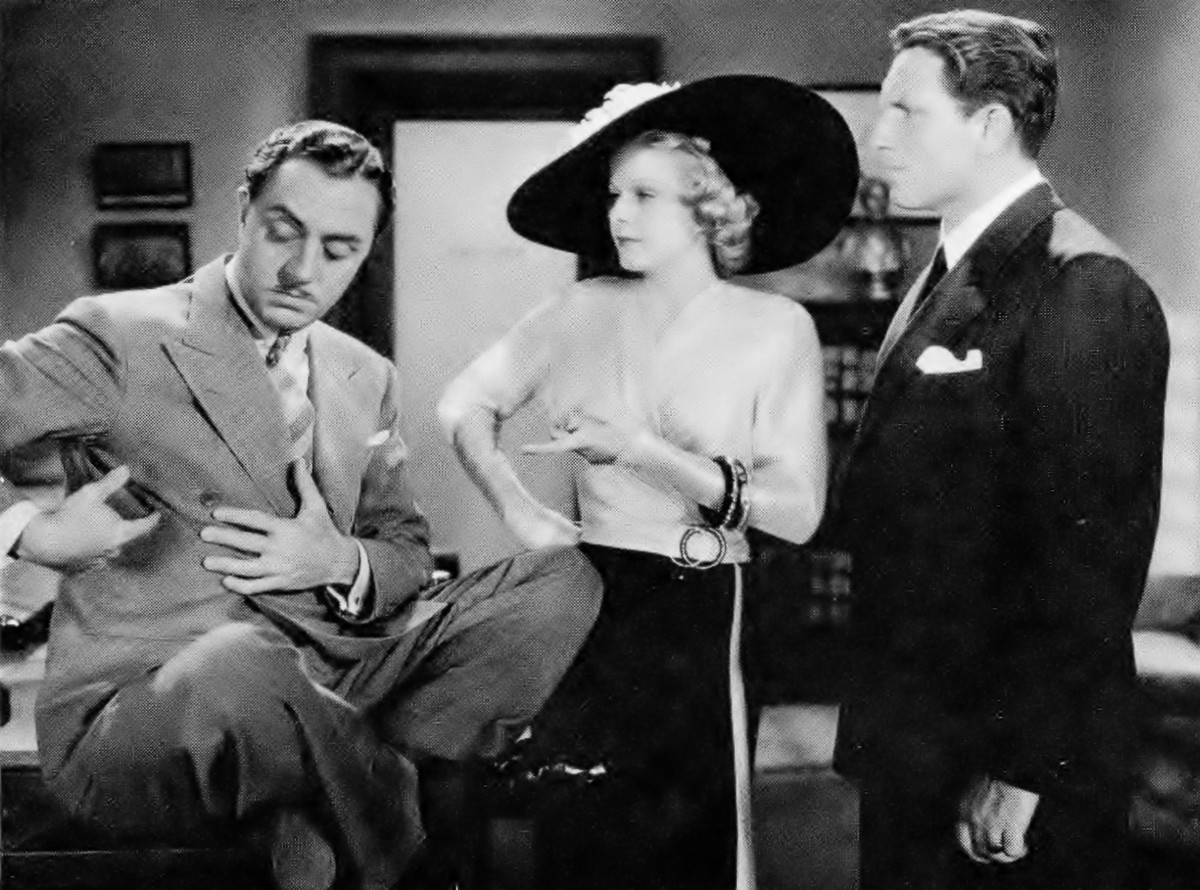 William Powell, Jean and Spencer Tracy in Libeled Lady (1936)