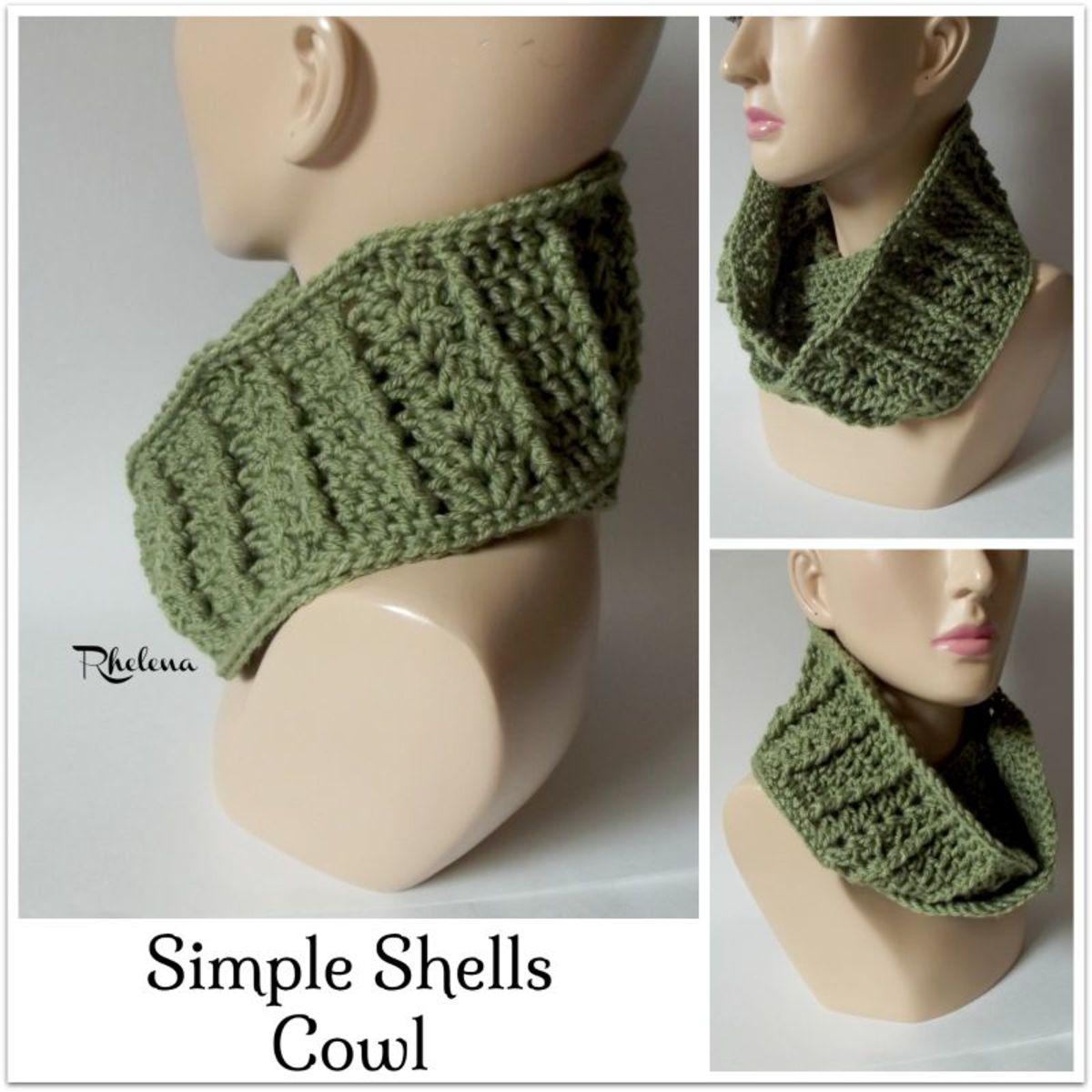 Crocheting Benefits : FREE Cowl Crochet Pattern: http://crochetncrafts.com/simple-shells ...