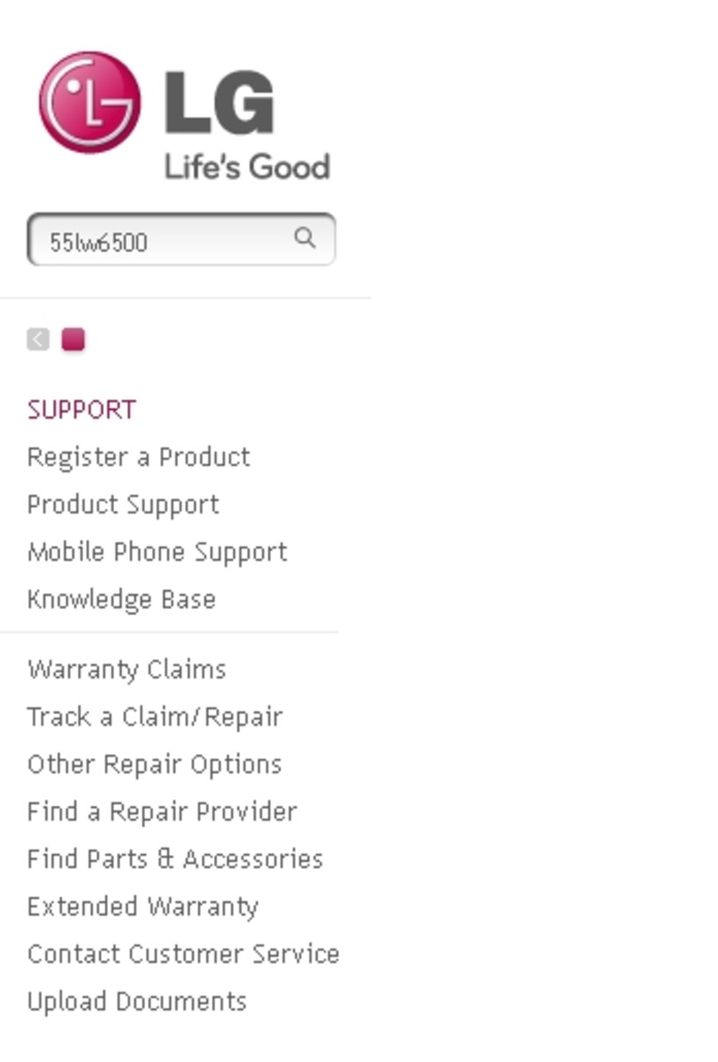 Search for your LG TV model on the LG Support home page.