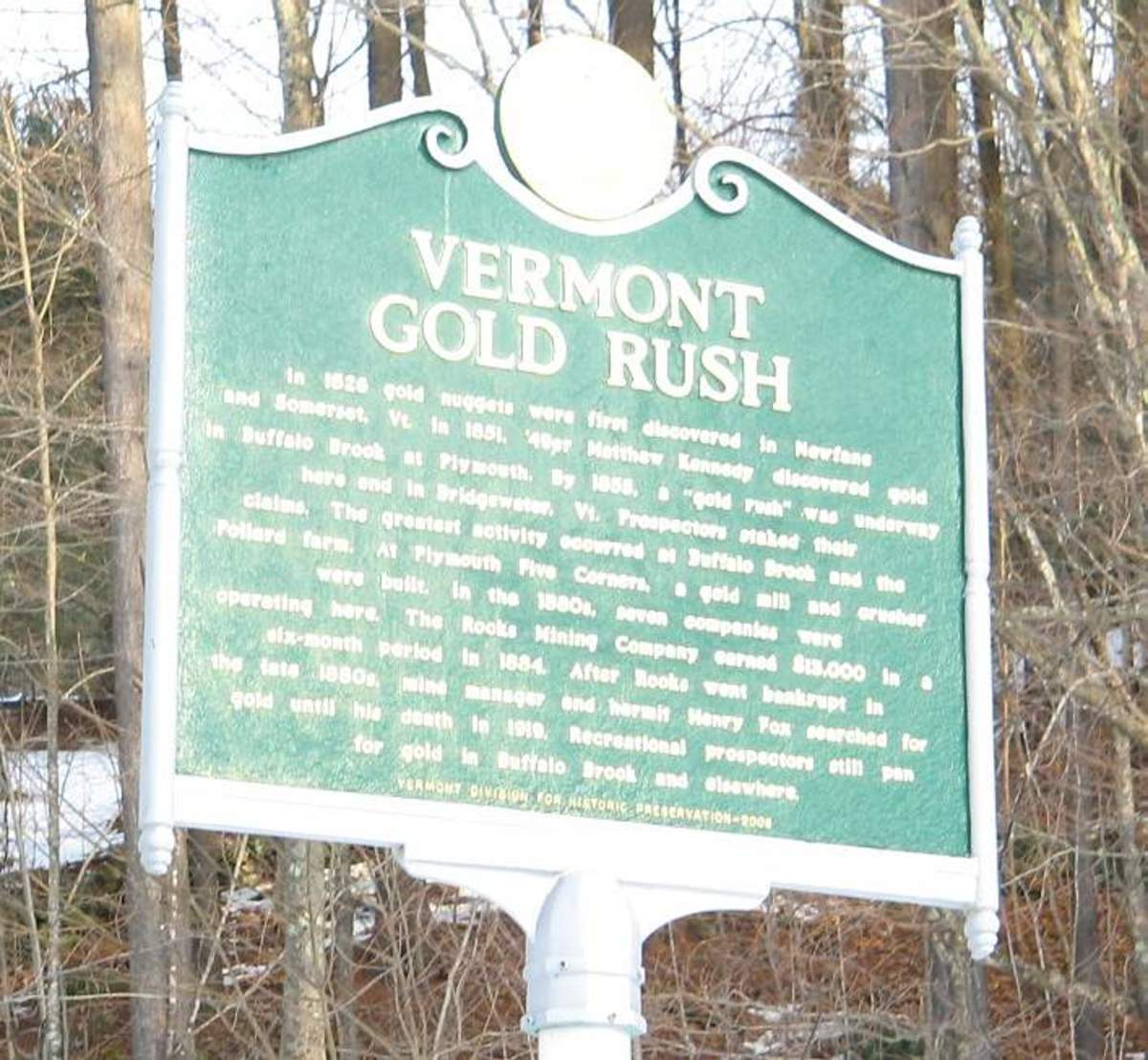 Gold mine in Vermont