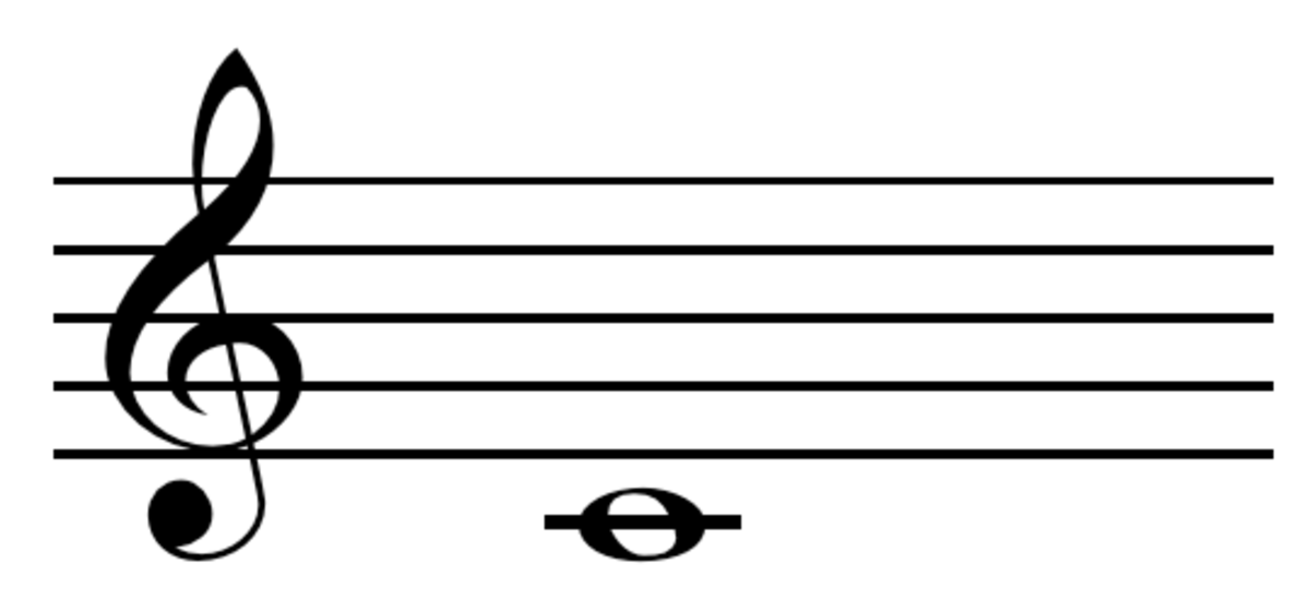 Middle c: This note is played on trumpet in an open position with no valves being pressed down. It produces a natural sound