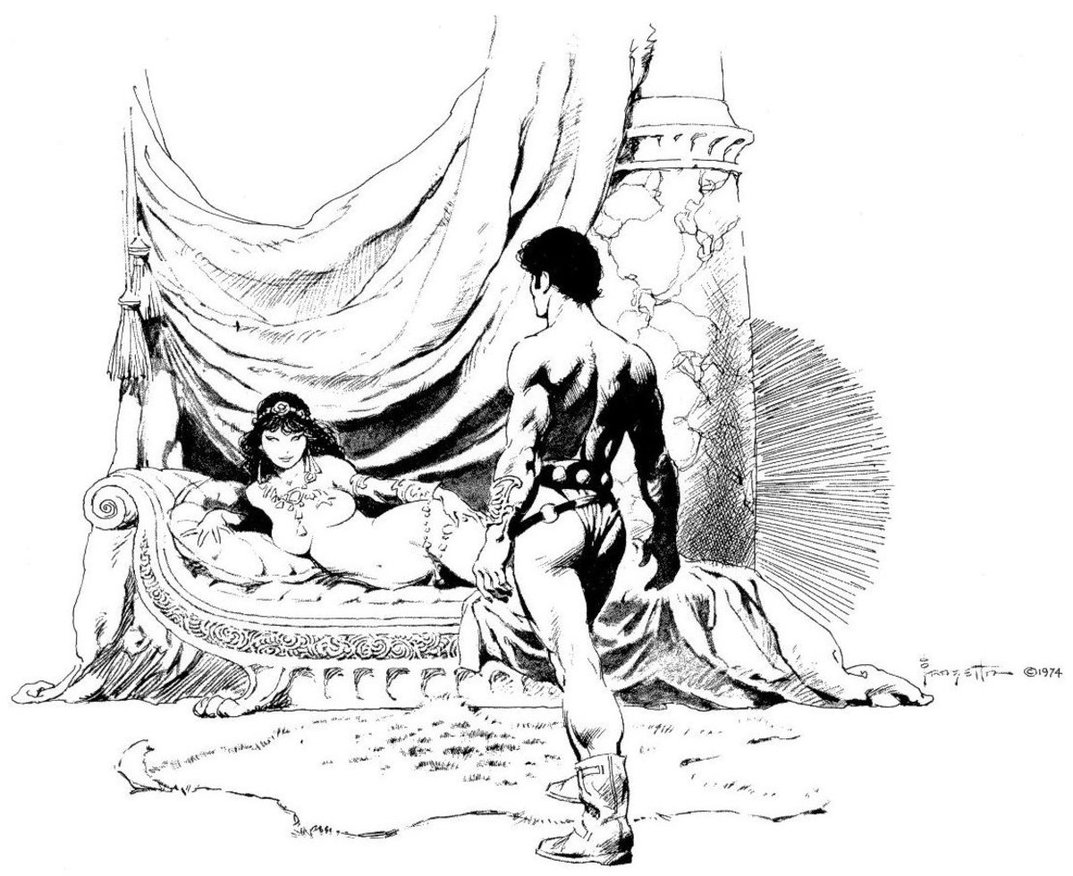 John Carter with Dejah Thoris