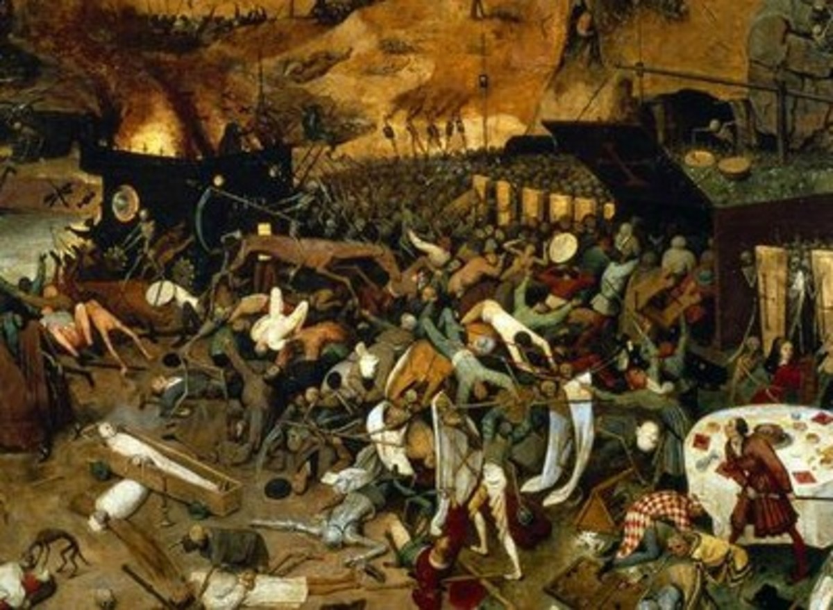 "Gruesome detail from ""The Triumph of Death"" by Pieter Bruegel c. 1562"