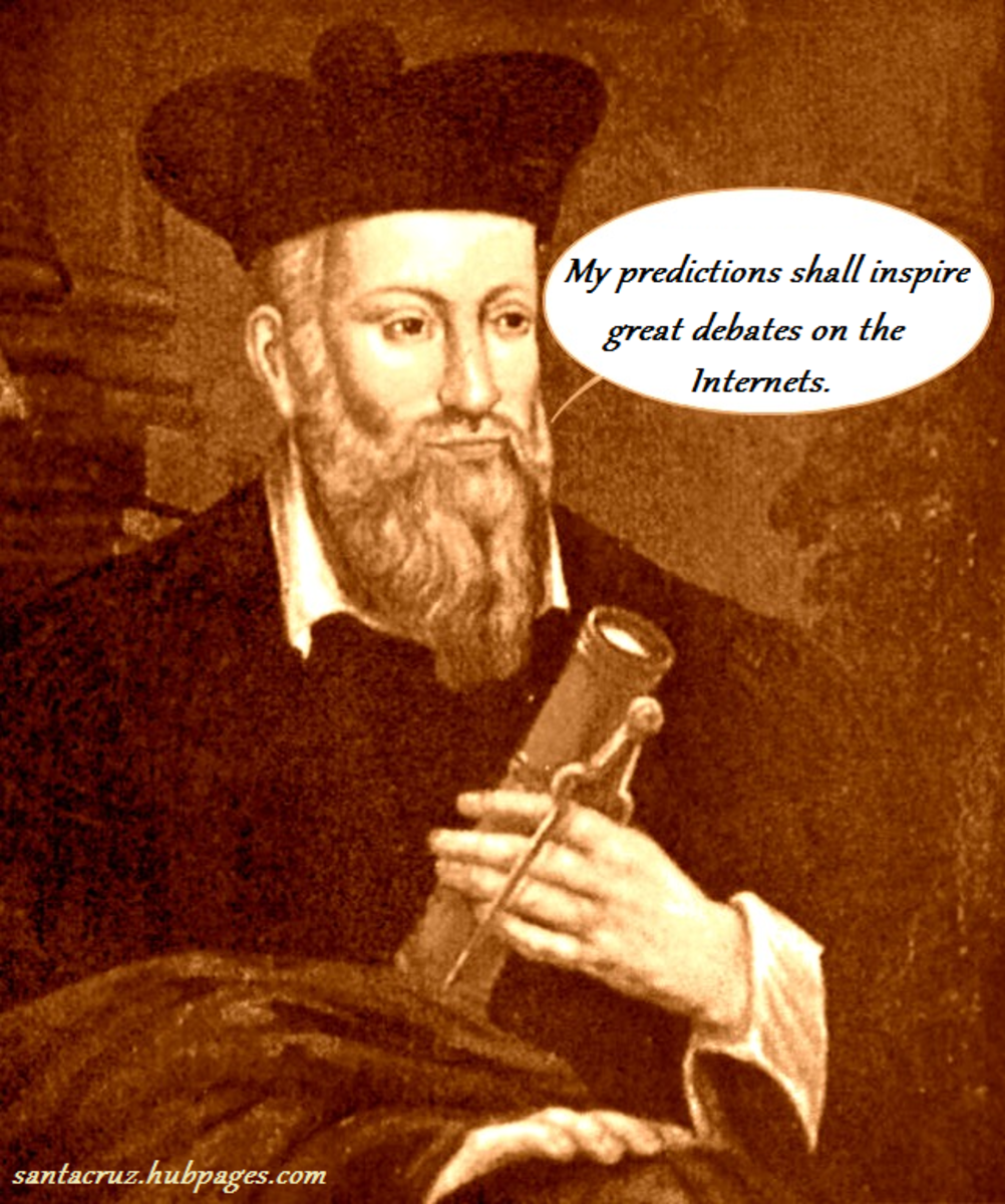Nostradamus was an herbalist, a poet and a self-acclaimed psychic.