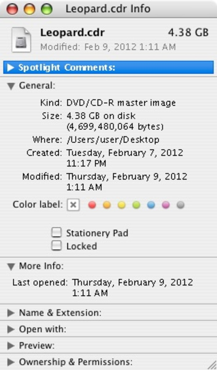 When you finish, the resulting disc image should have a size similar to mine in the above screenshot