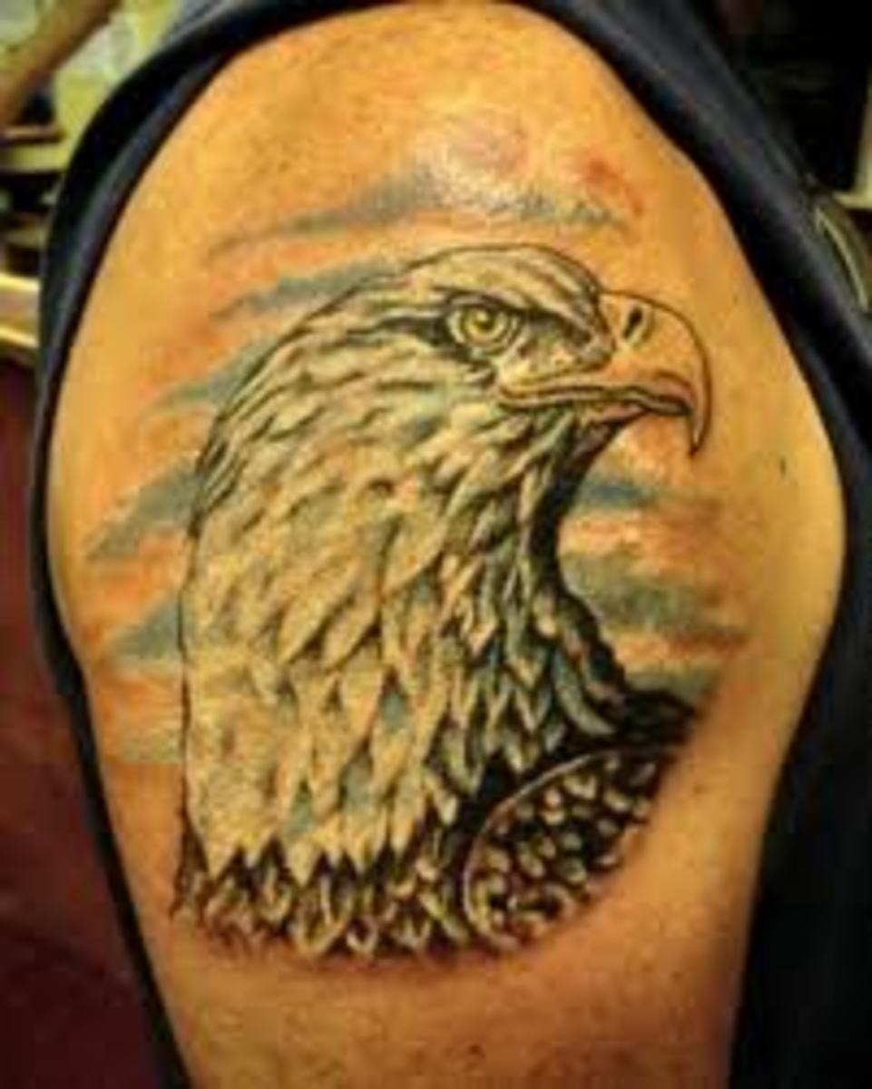 bald eagle tattoos and meanings bald eagle tattoo designs and ideas hubpages. Black Bedroom Furniture Sets. Home Design Ideas