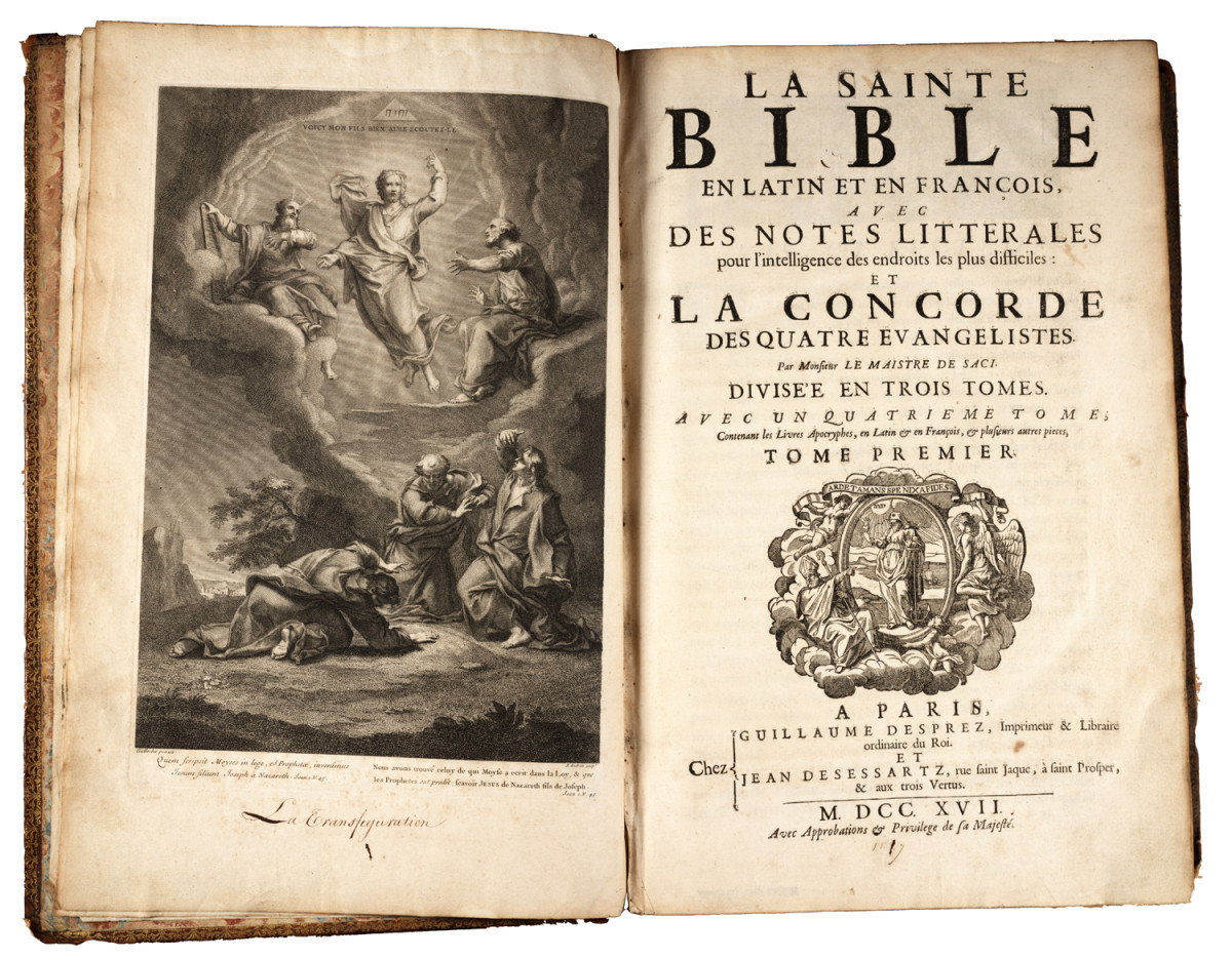 The Bible in Latin.  Nothing is creepier than fire and damnation when read to you by a questionable Catholic priest.