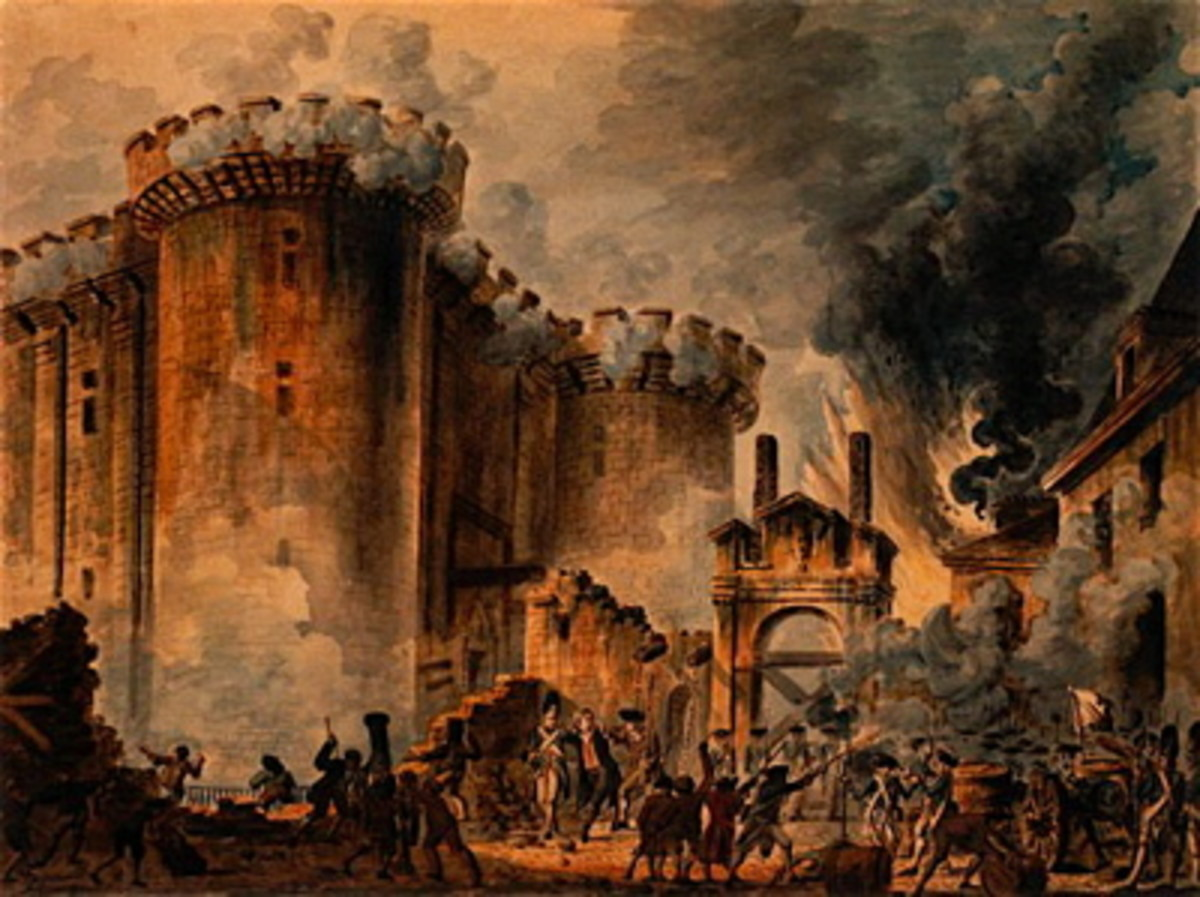 French storming the Bastille. They seem only good at conquering themselves.