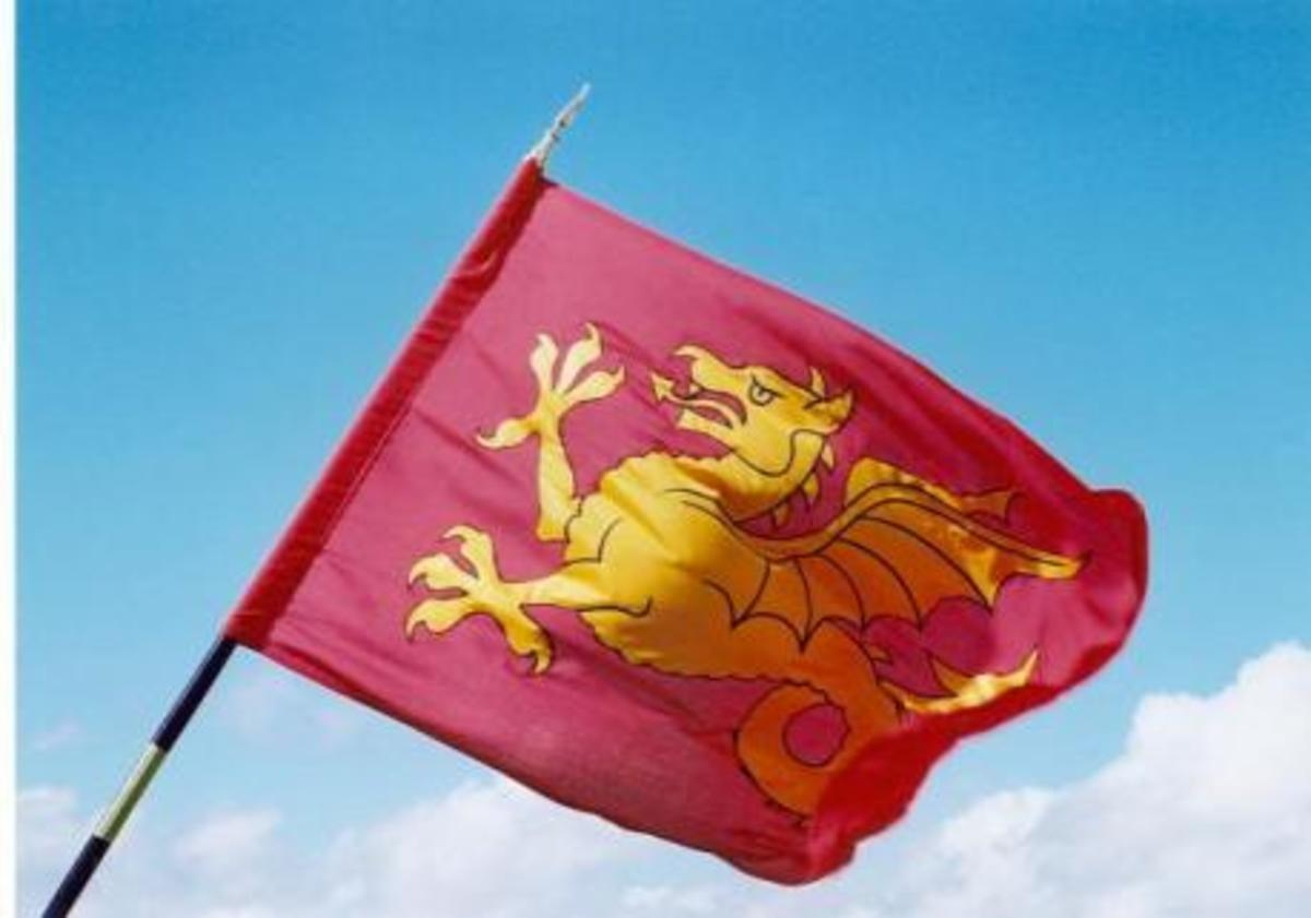 The wyvern banner of Wessex would have been borne ahead of the main body of men for identification