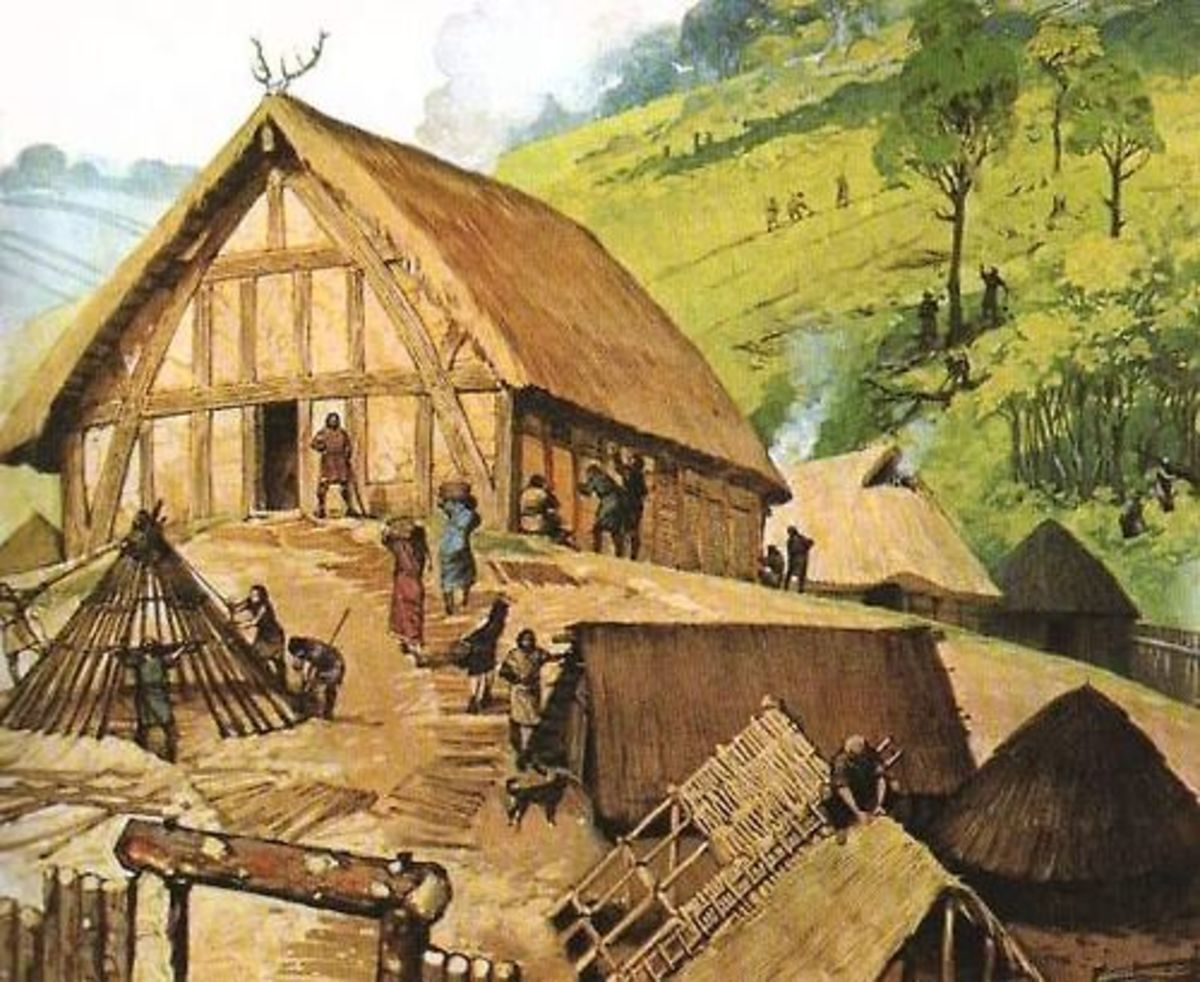 A mead hall would be erected by a thegn, a landholder (or 'hold' in former Danelaw shires) or a king's huscarl. His five hides of land would help pay for upkeep of his property - held from king or church - and for equipment as well as his household