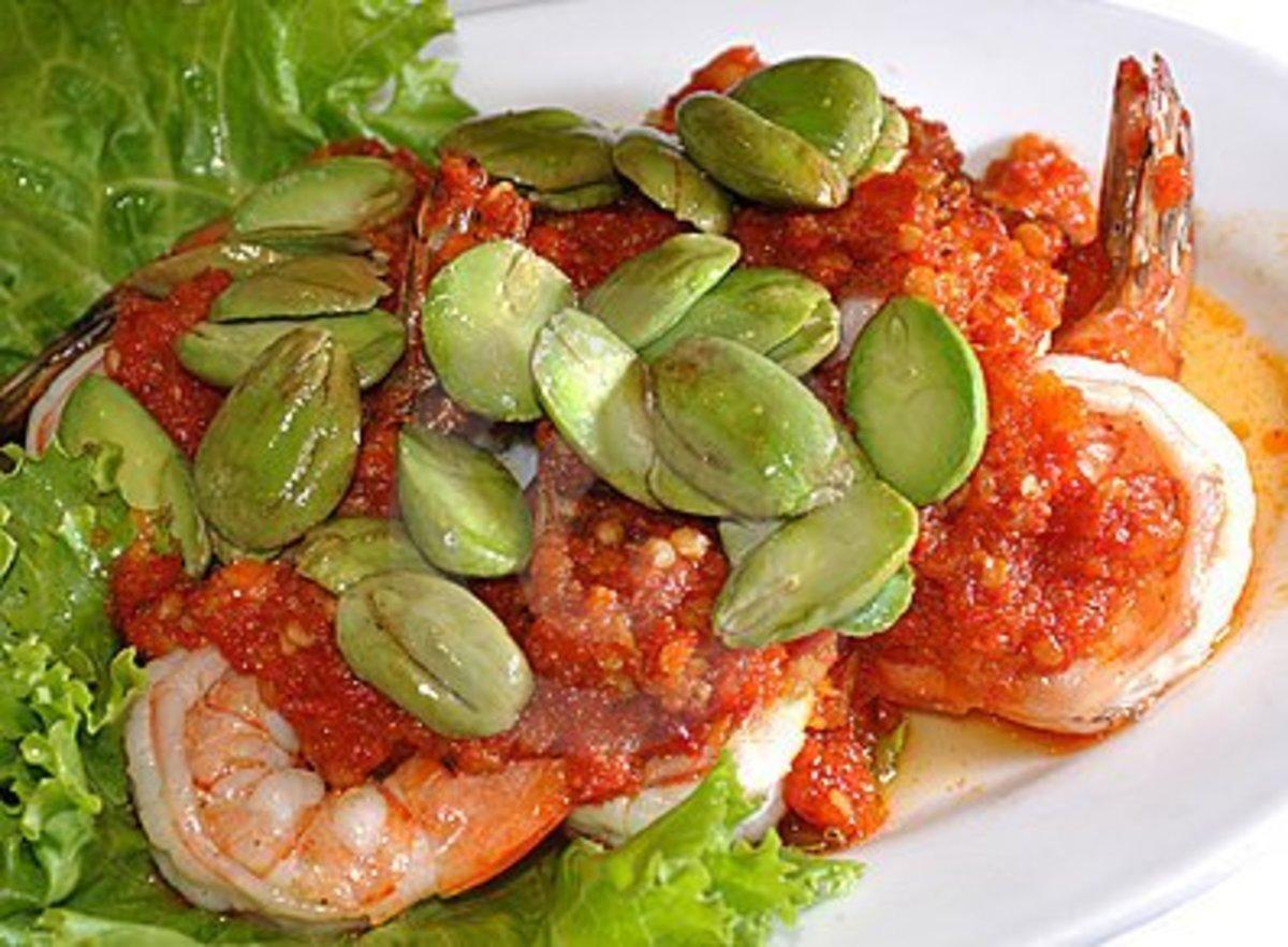 A popular culinary delight, sambal petai