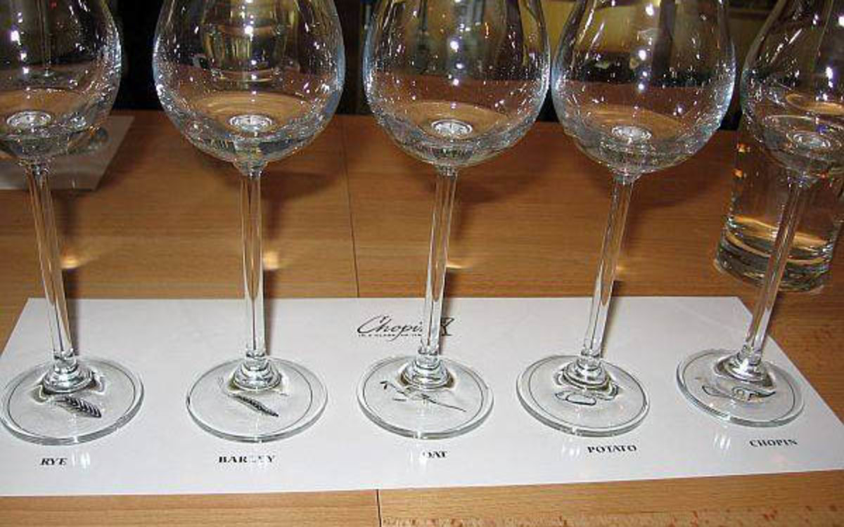 I found this image on a search and liked the idea of placing each glass on a piece of paper. Your guests could simply write their thoughts under each glass for discussion later.