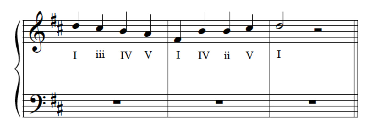 Example 12--Melody with chord symols