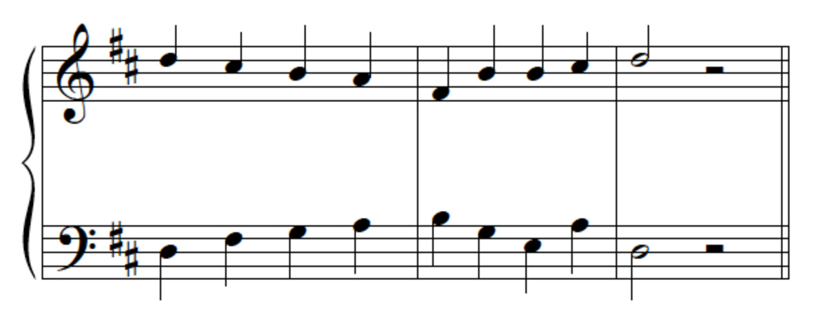Question 10 (with bass line)