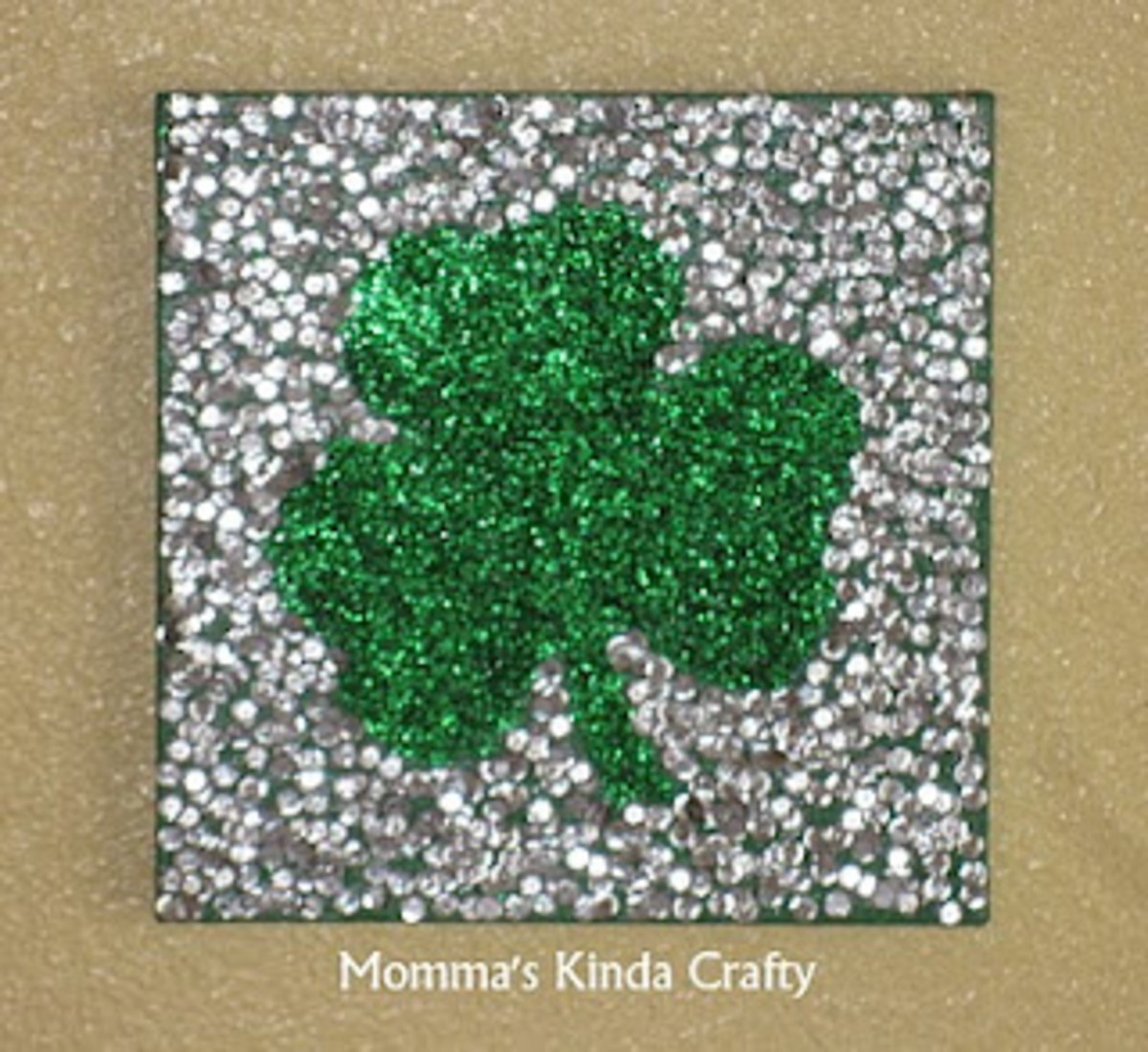 Glittery Shamrock Canvas