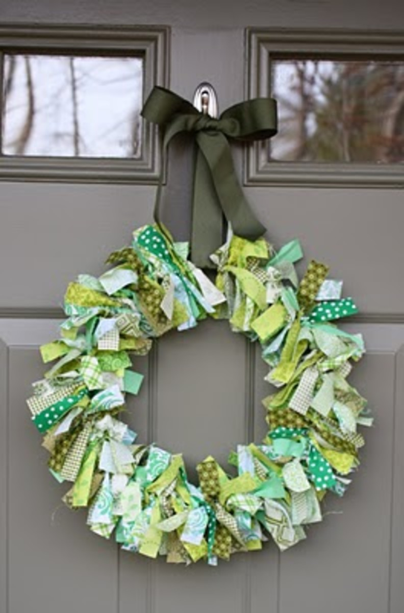 Green Rag Wreath