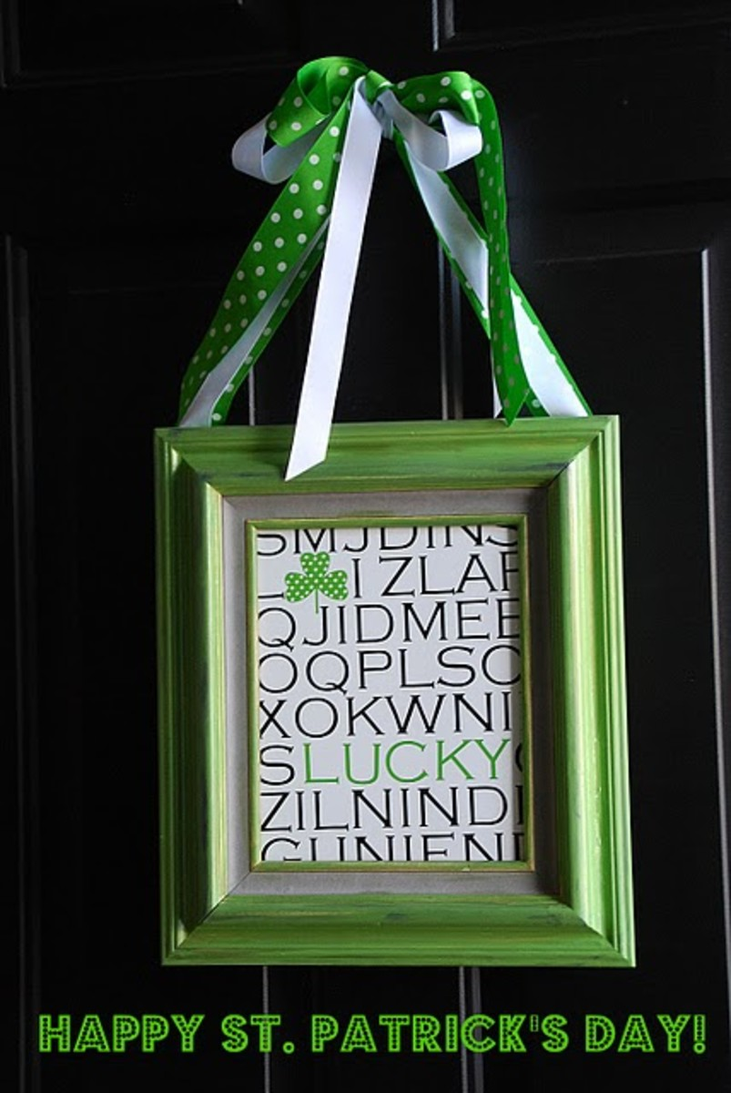 Framed St. Patrick's Day Art