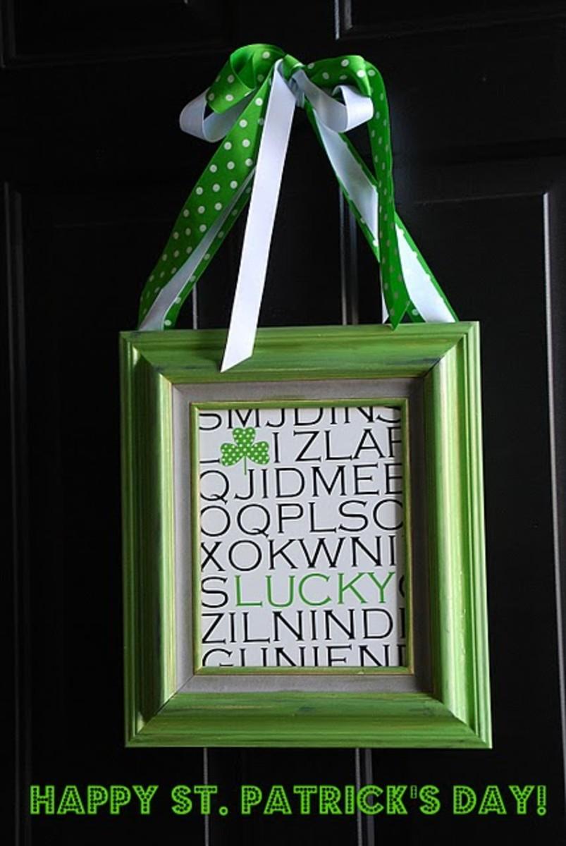 Framed St. Patrick's Day Art