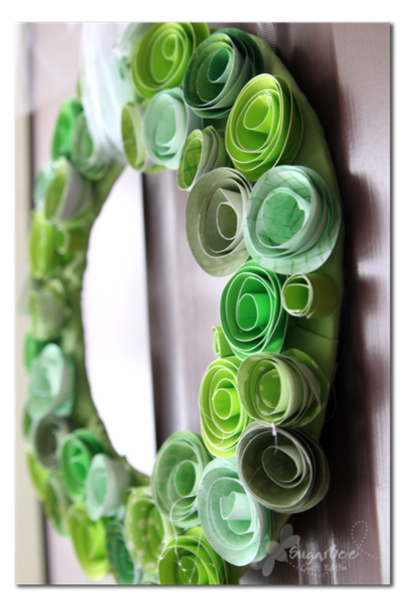 St. Patrick's Day Green Flower Wreath