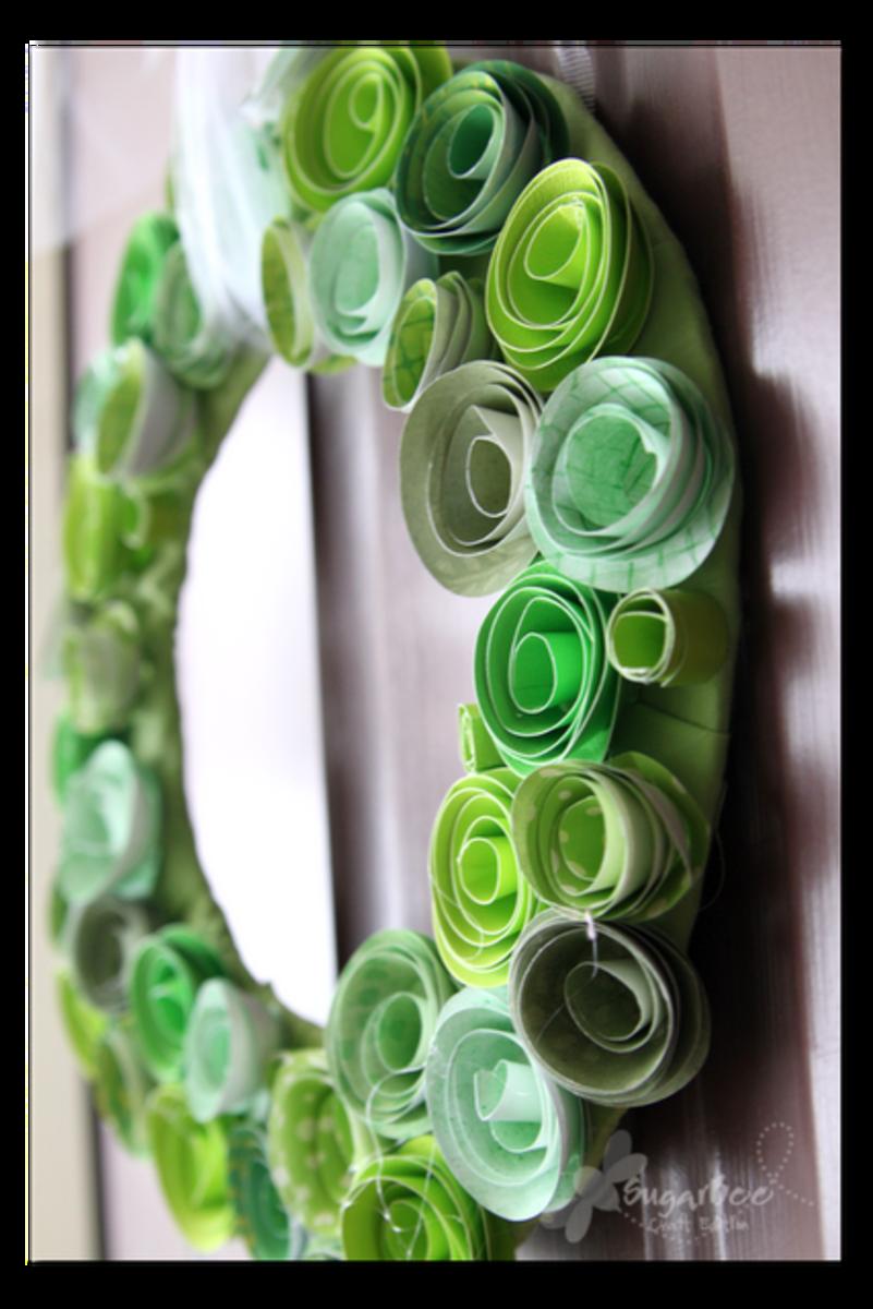 St. Patrick's Day Green Flower Wreath