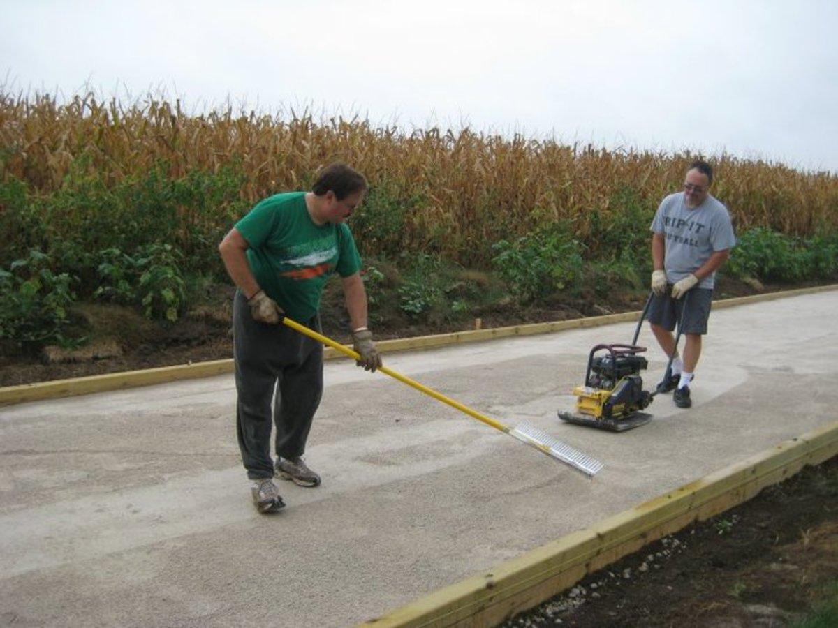 raking & compacting