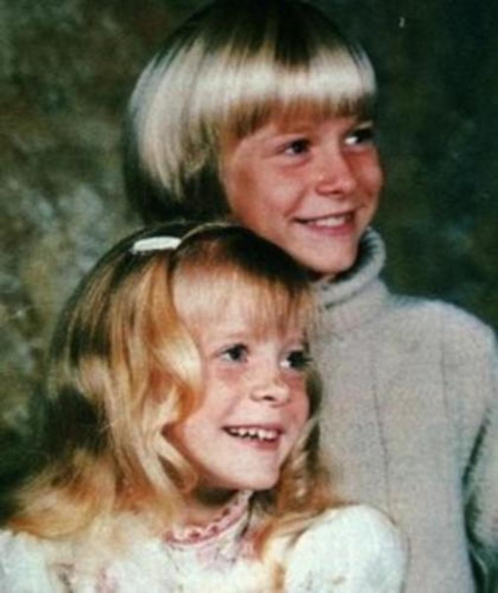 Kurt Cobain with his sister Kimberley
