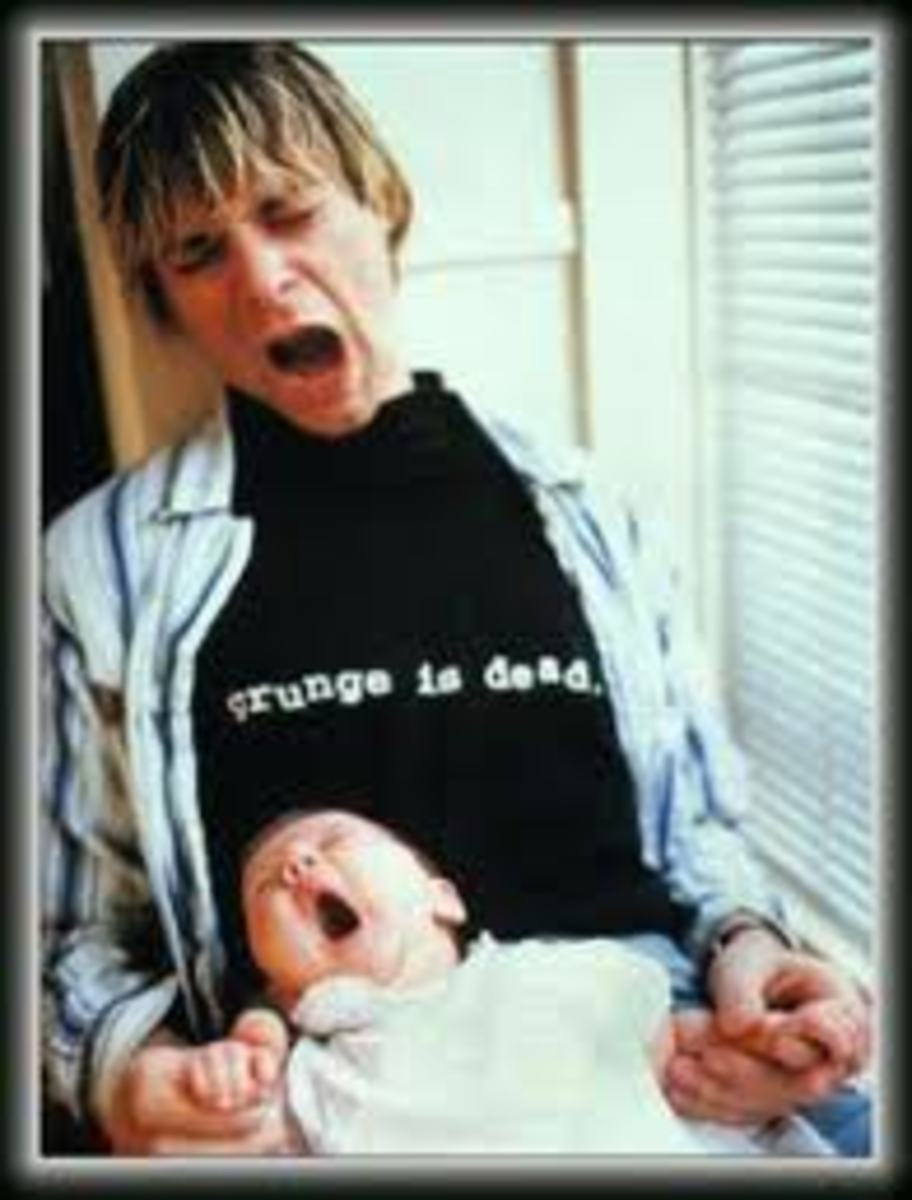 Kurt and Frances during one of their supervised visits. The t shirt, while prophetic, is premature.