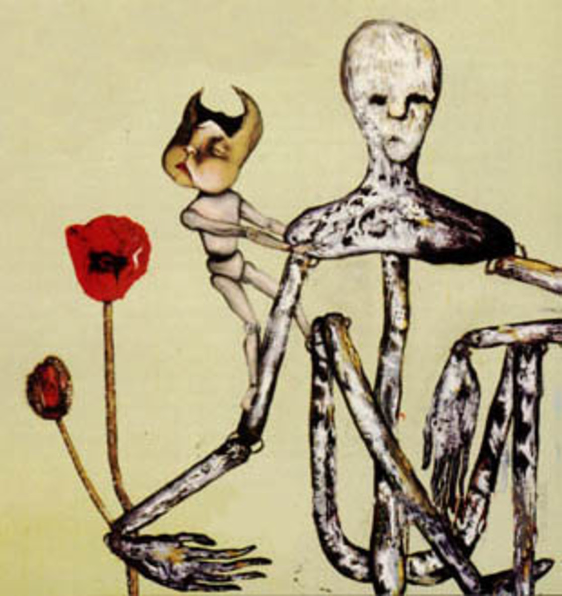 "This painting became the cover for Nirvana's 1992 rarities and b-sides album, ""Incesticide"""
