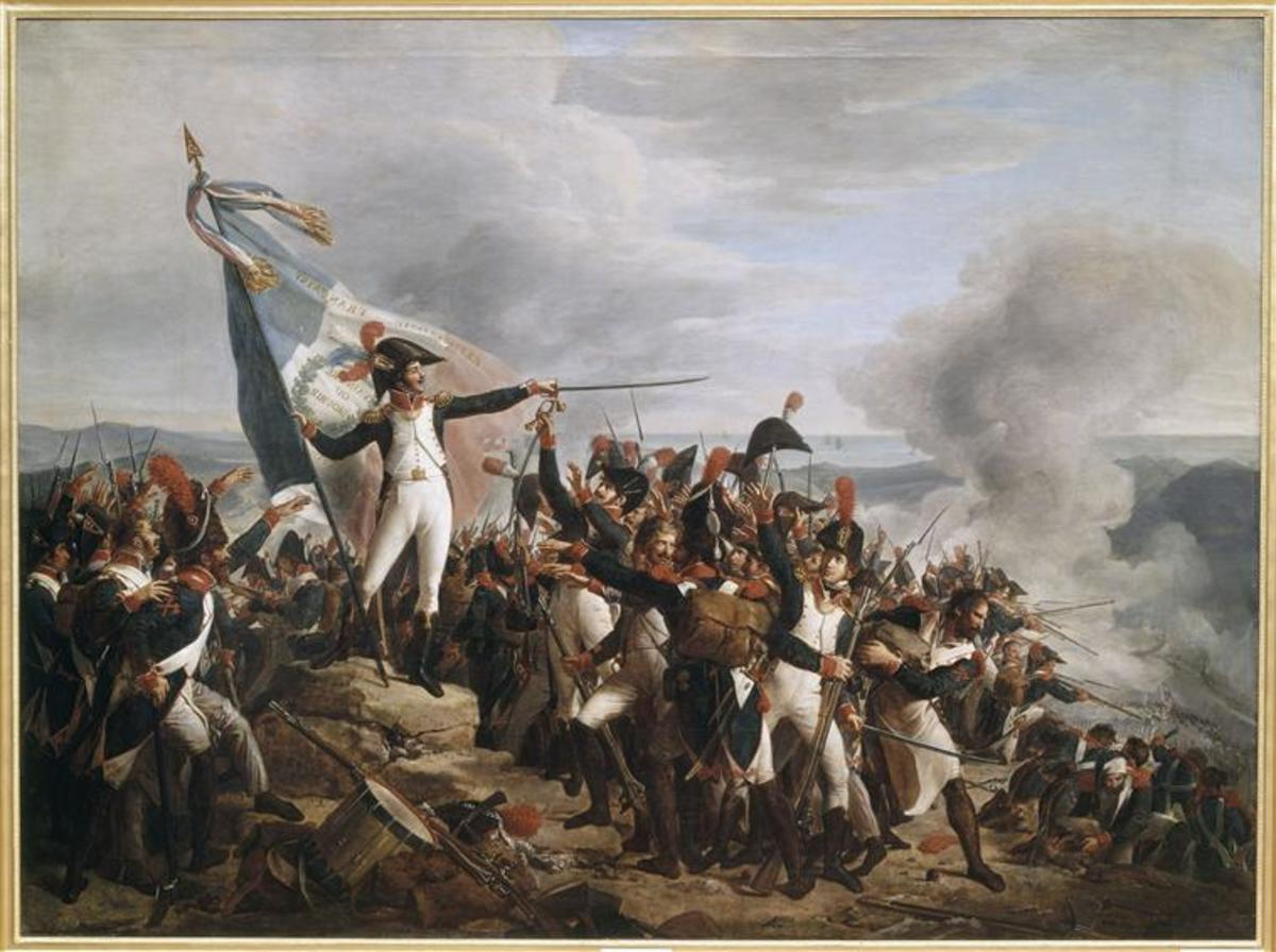 A scene from the Battle of Montenotte