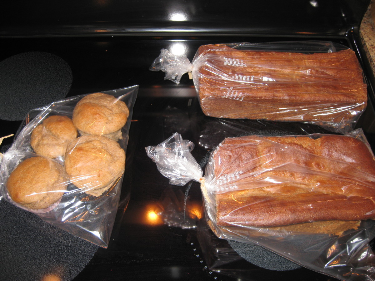 photo of Ezekiel bread and muffins