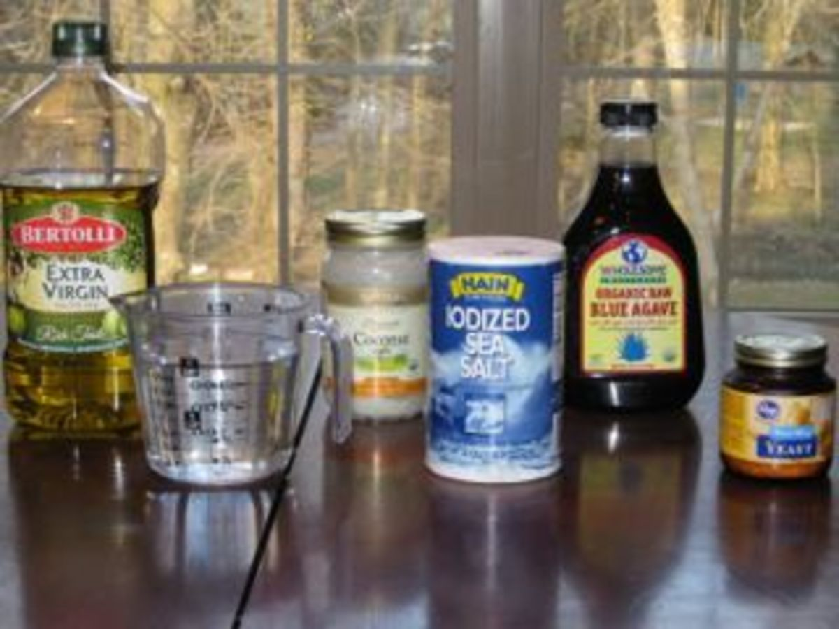 pic of ingredients for Ezekiel bread
