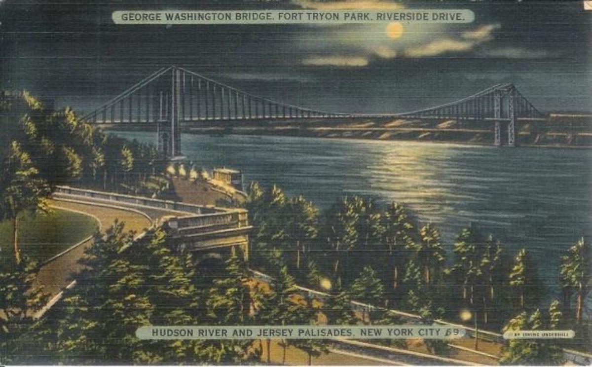 Postcard- Geo-Wash-Bridge-Fort-Tryon-NJ