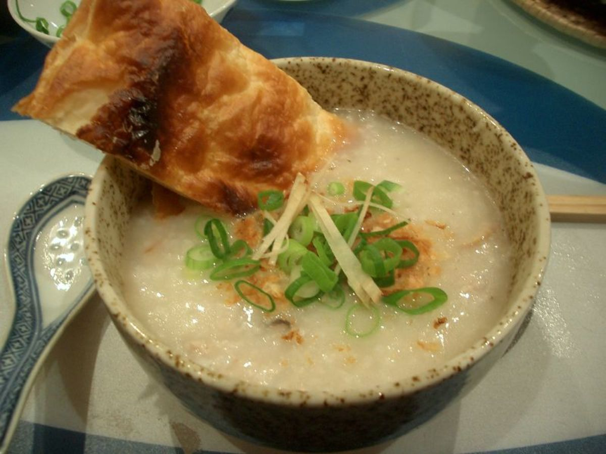 Plain rice porridge/congee (Chao)