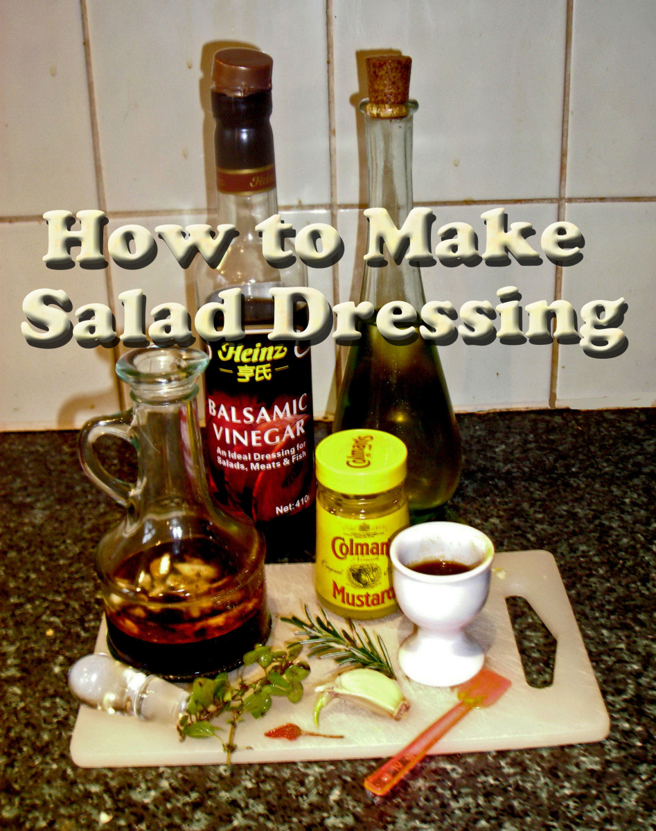 Homemade French-style salad dressing
