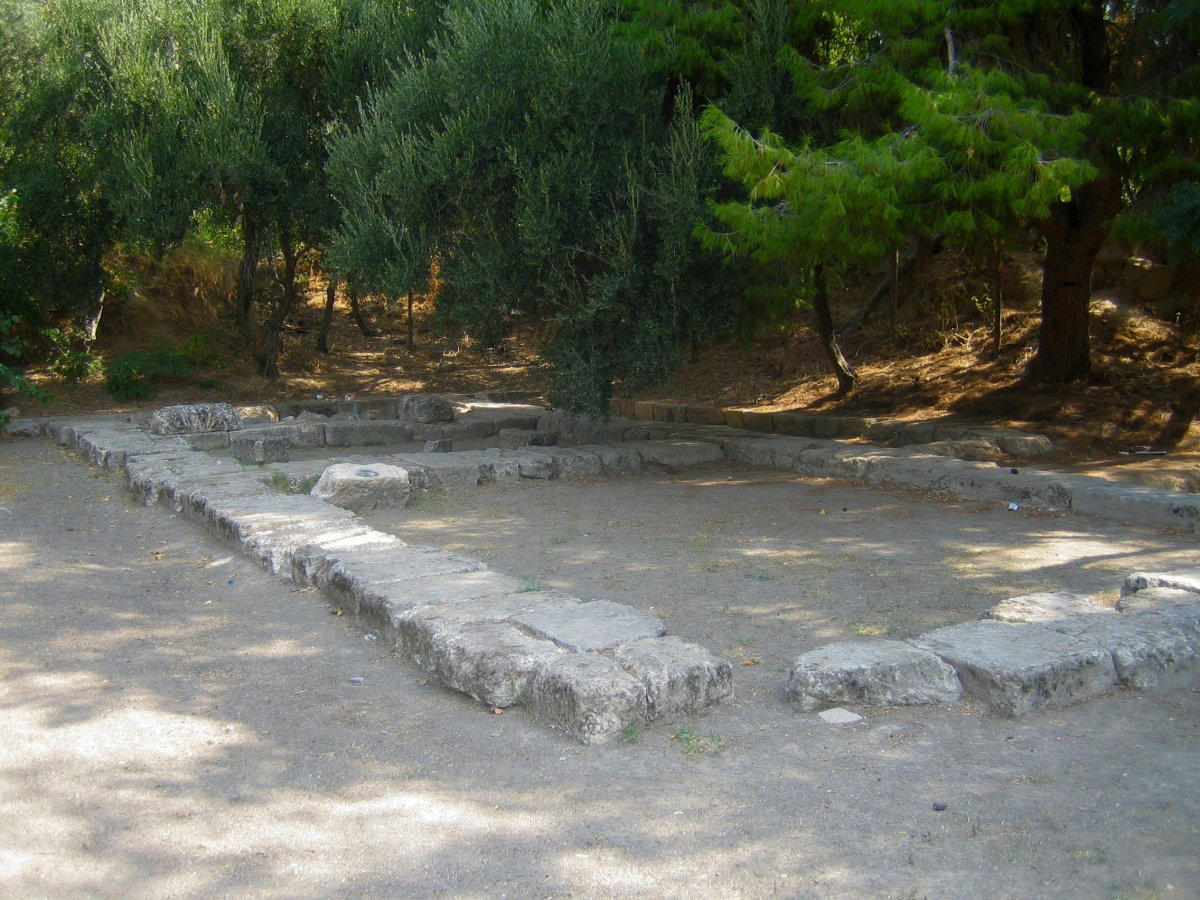 Archaeological Site in Akadimia Platonos subdivision of Athens, Greece