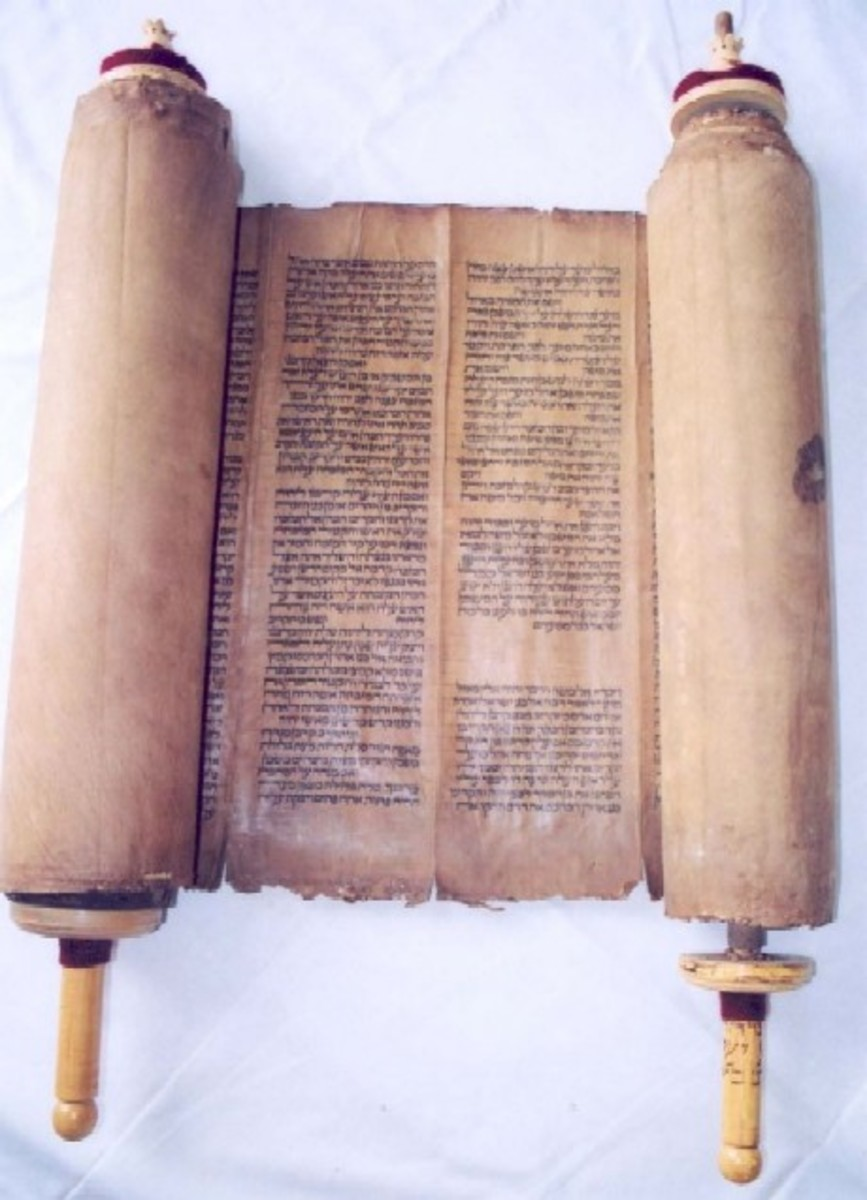 The Torah, written in Hebrew,the first five books in the old Testament.
