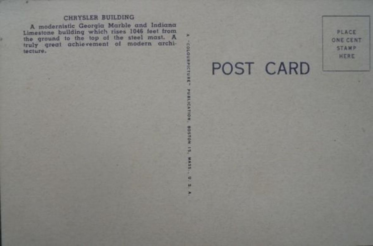 Postcard-Chrysler-Buidling-Back