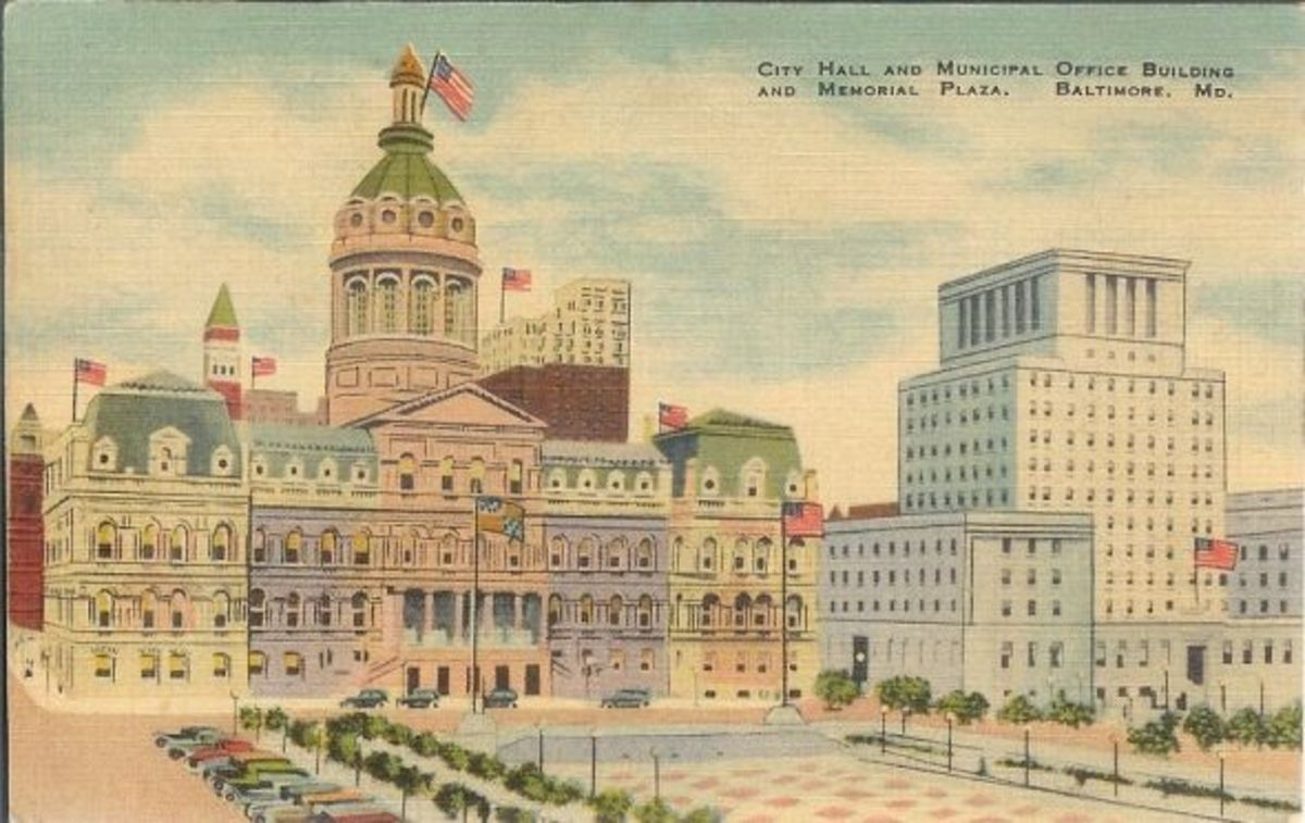 Postcard-Baltimore-Maryland-City-Hall