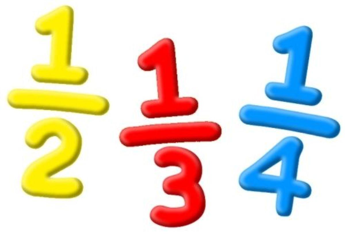 Printable fraction games