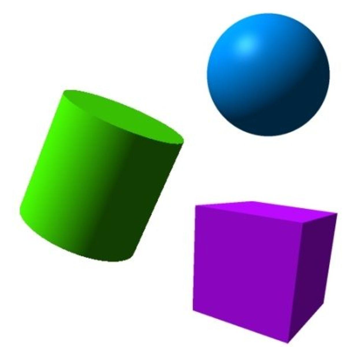 Printable 3D Shape Games
