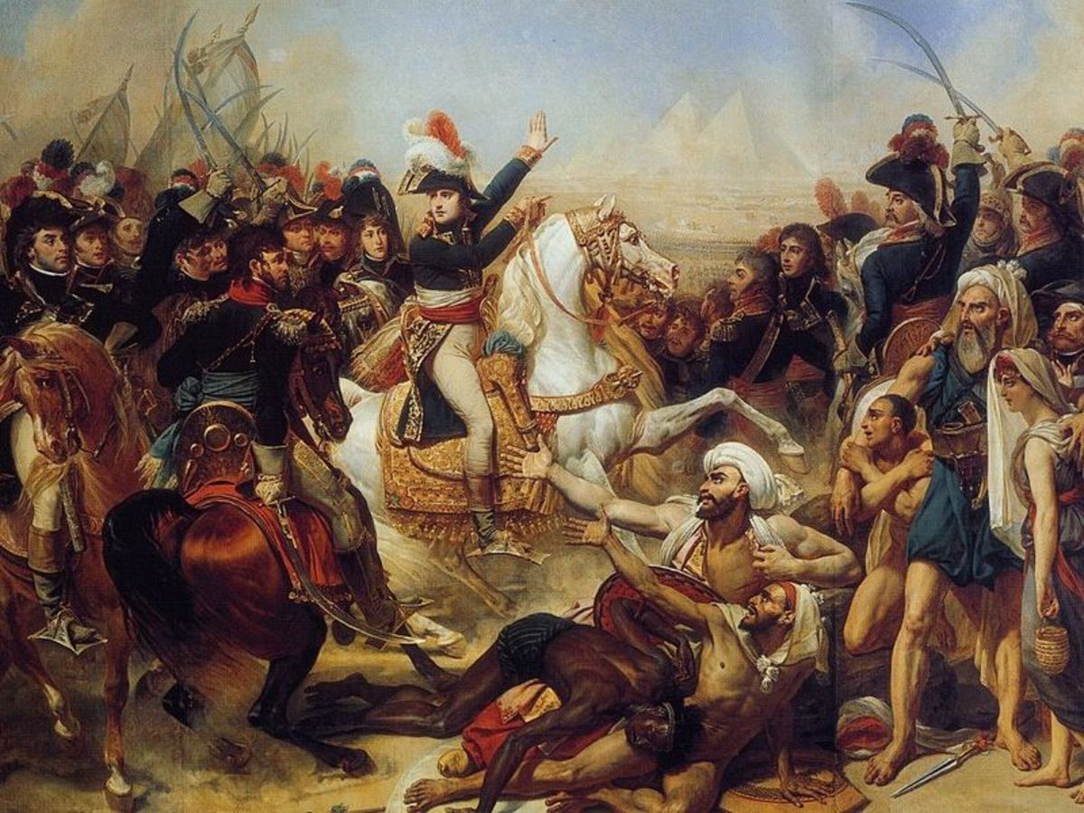 The French and Mamluks do battle