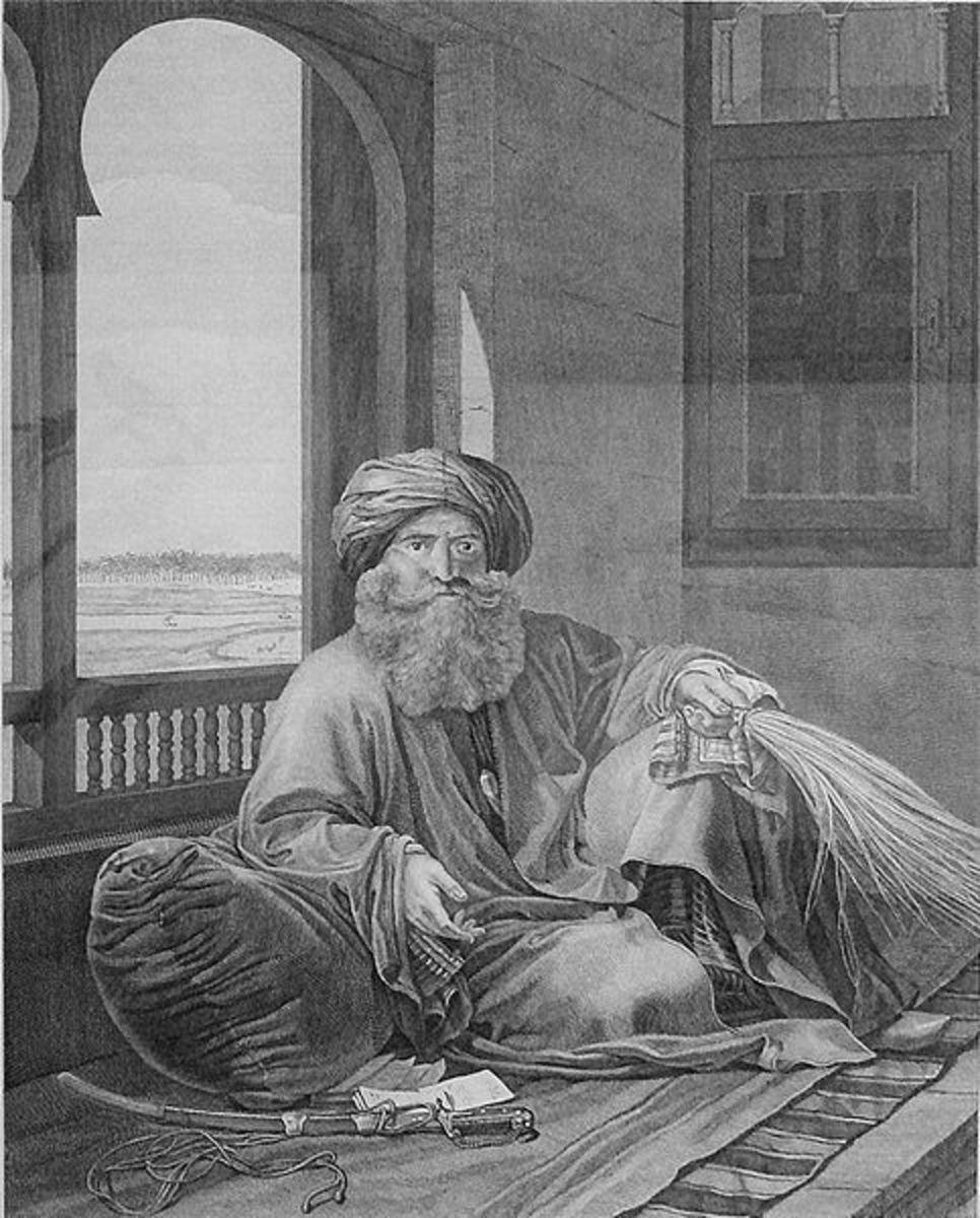 Murad Bey, the commander of Mamluk forces alongside Ibrahim Bey.