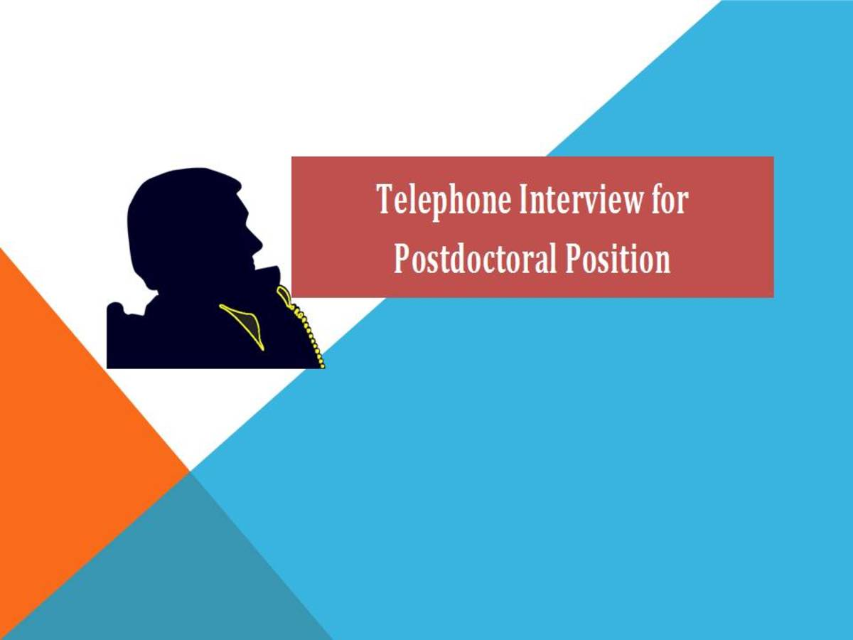 Telephone Interview for Postdoctoral Position