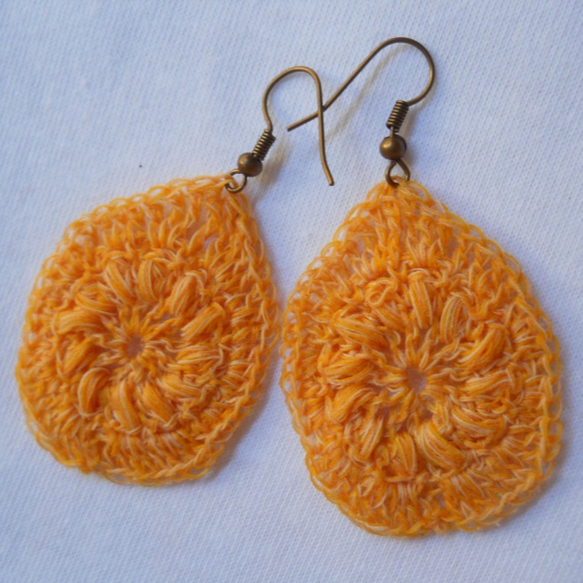 Crochet Teardrop Earring #4