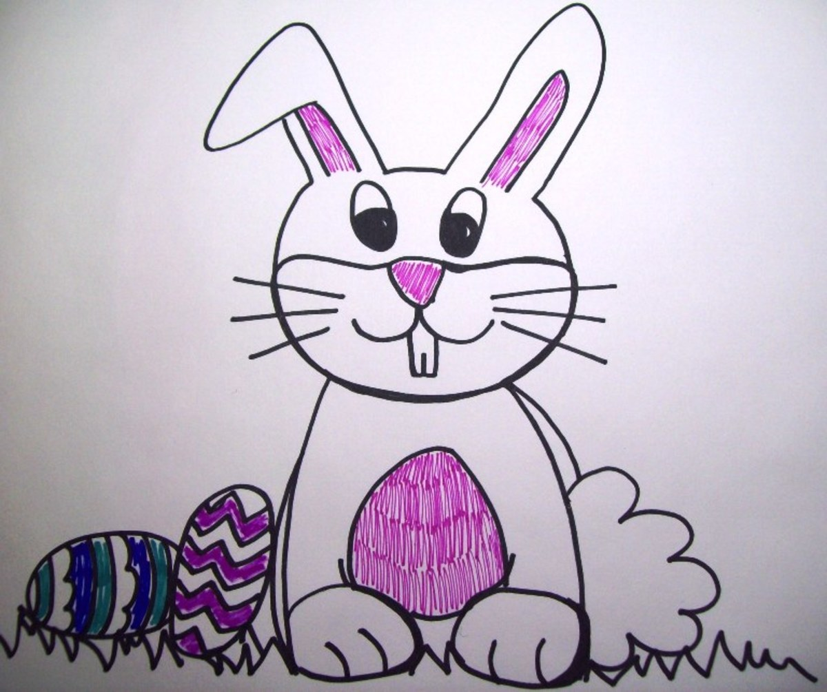My quick sketch of the Easter bunny.