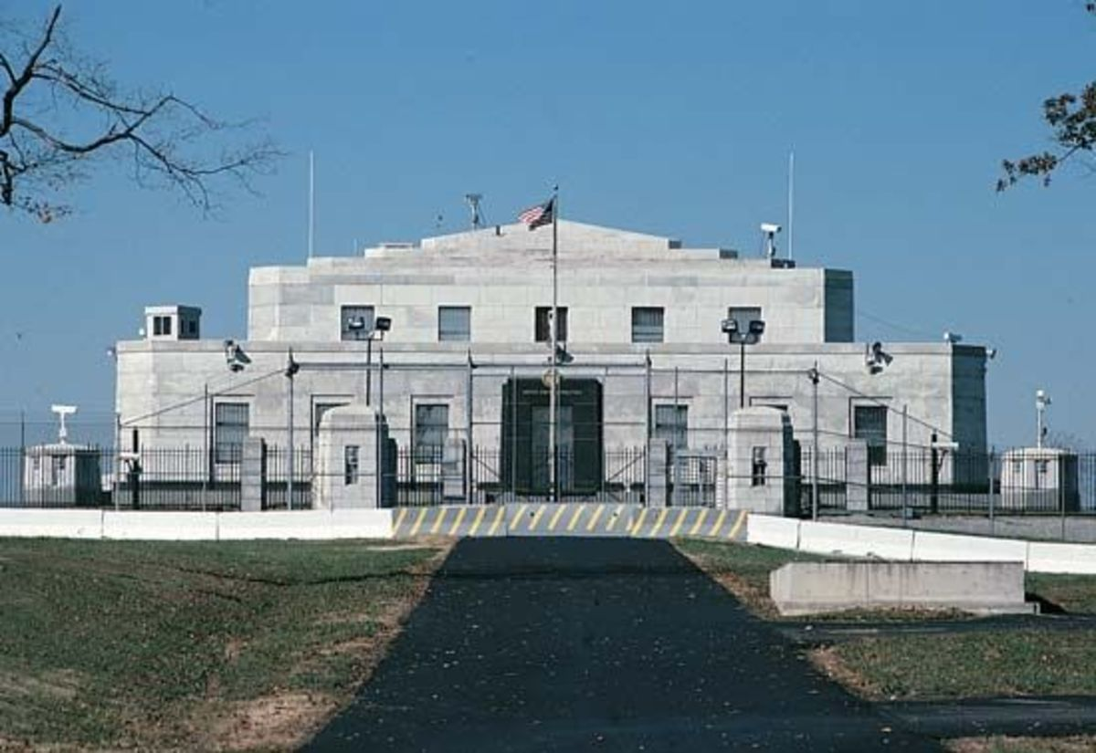 In 1937, the Federal Bullion Depository opened at Fort Knox, Kentucky. Billions of dollars in gold are stored there. The underground vault cannot be opened by one person. Several people know separate combinations known only to them. It is the 2nd lar