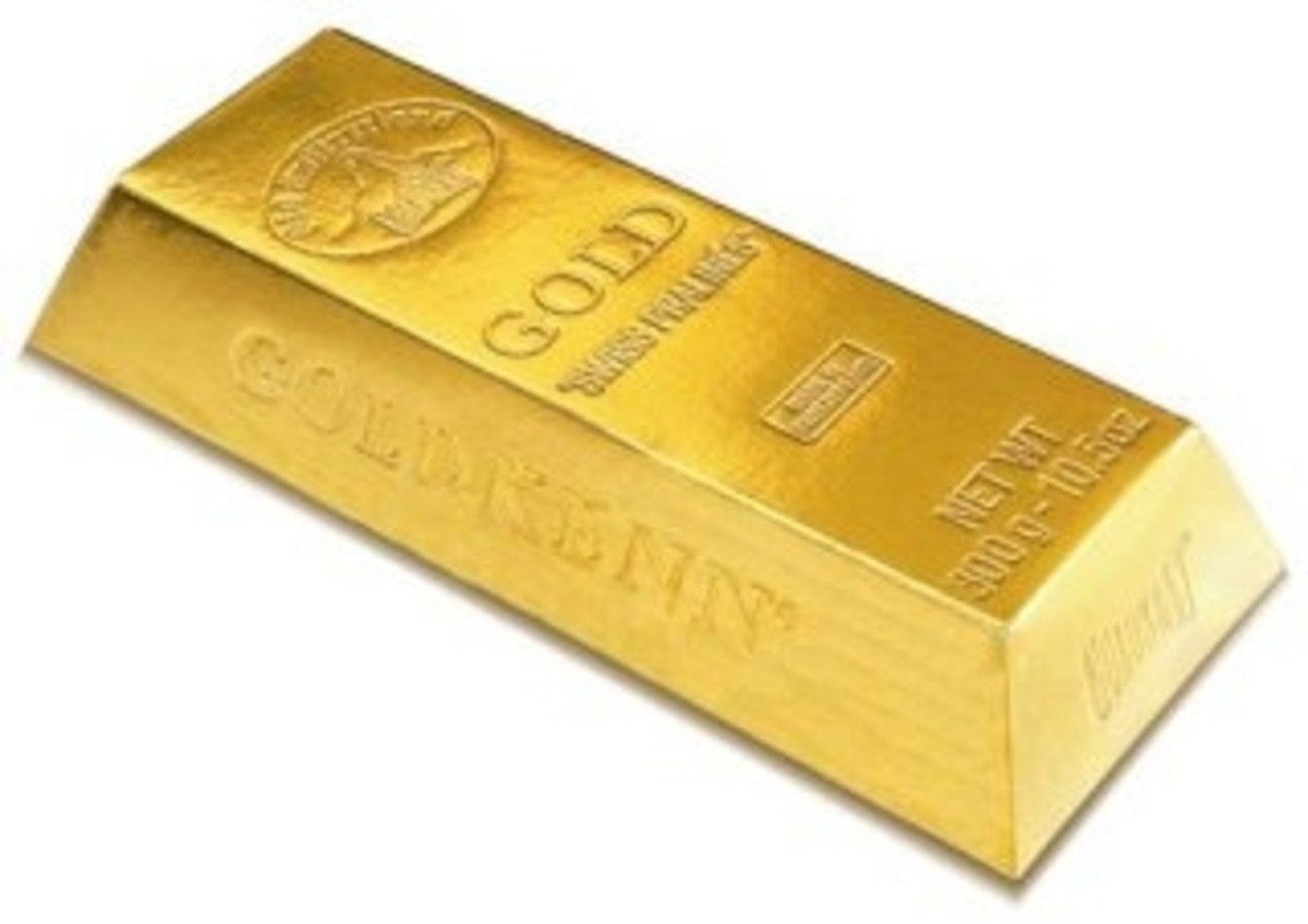 A gold bar measures 7 inches x 3 and 5/8 inches x 1 and 3/4 inches, and weighs ~27.5 pounds. They were mailed to the Depository by train.