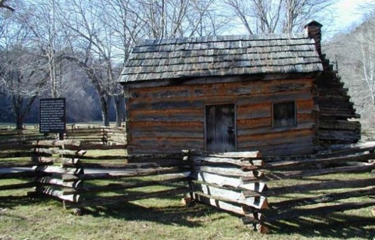 The Lincoln family lived at Knob Creek from 1811 to 1816. This cabin belonged to a neighbor and was moved to where the current location. Abraham Lincoln's earliest memory was almost drowning in Knob Creek and being saved by the neighbor's son.