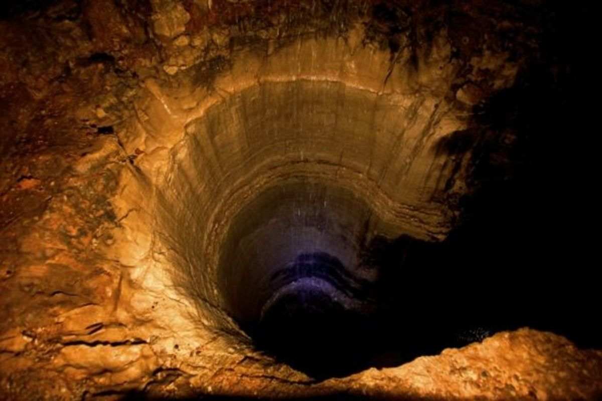 90 feet deep pit